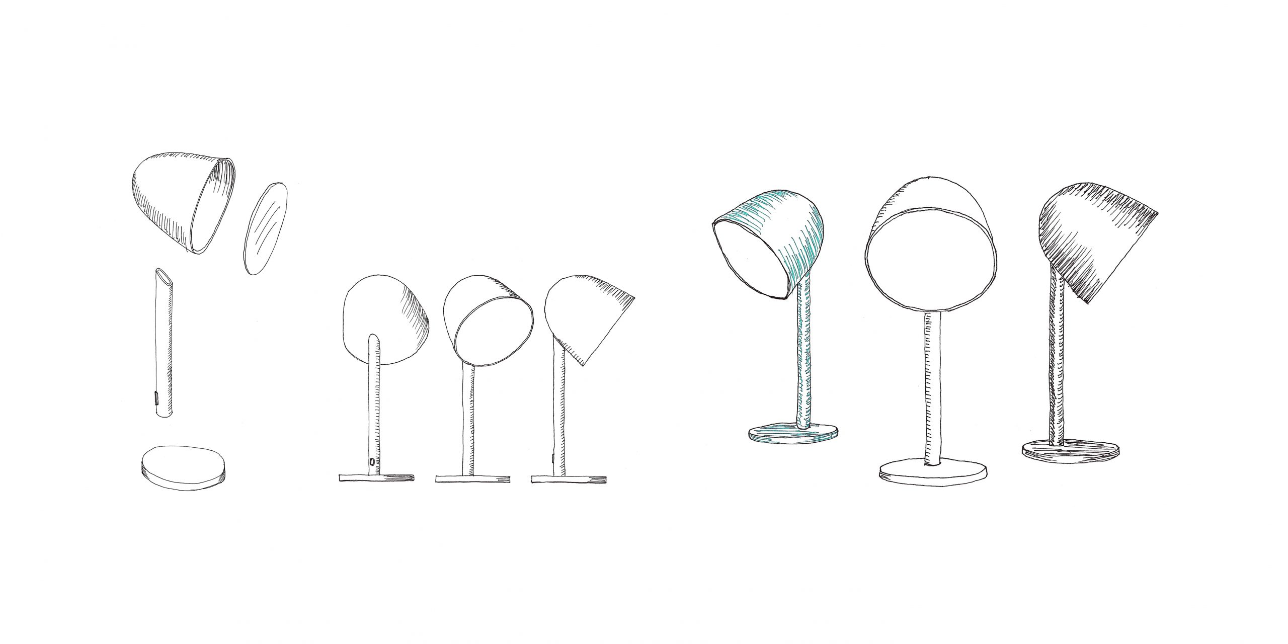 Sketch of Campanule lamp by Debiasi sandri for Ligne Roset