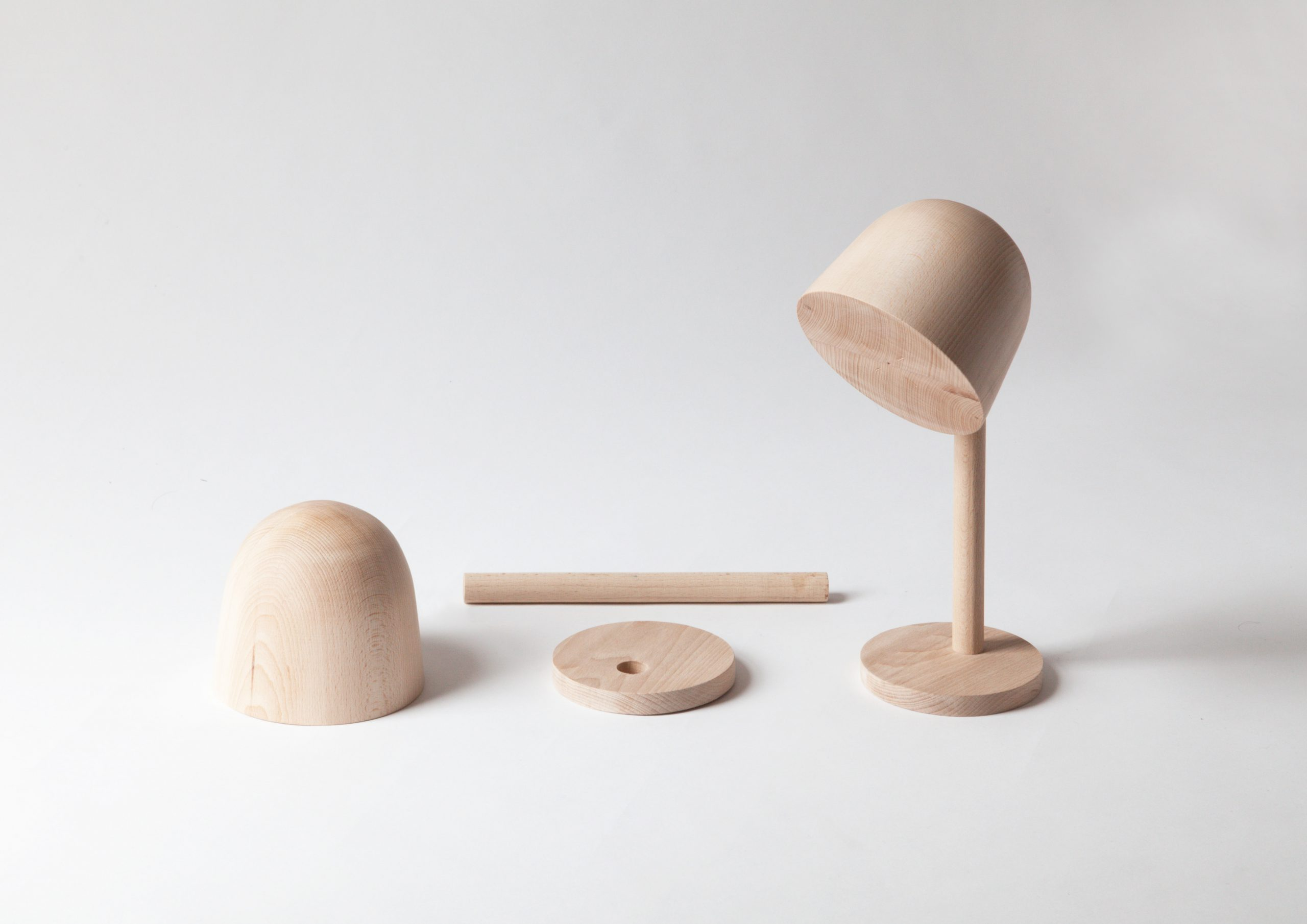 Wood model of Campanule lamp by Debiasi sandri for Ligne Roset