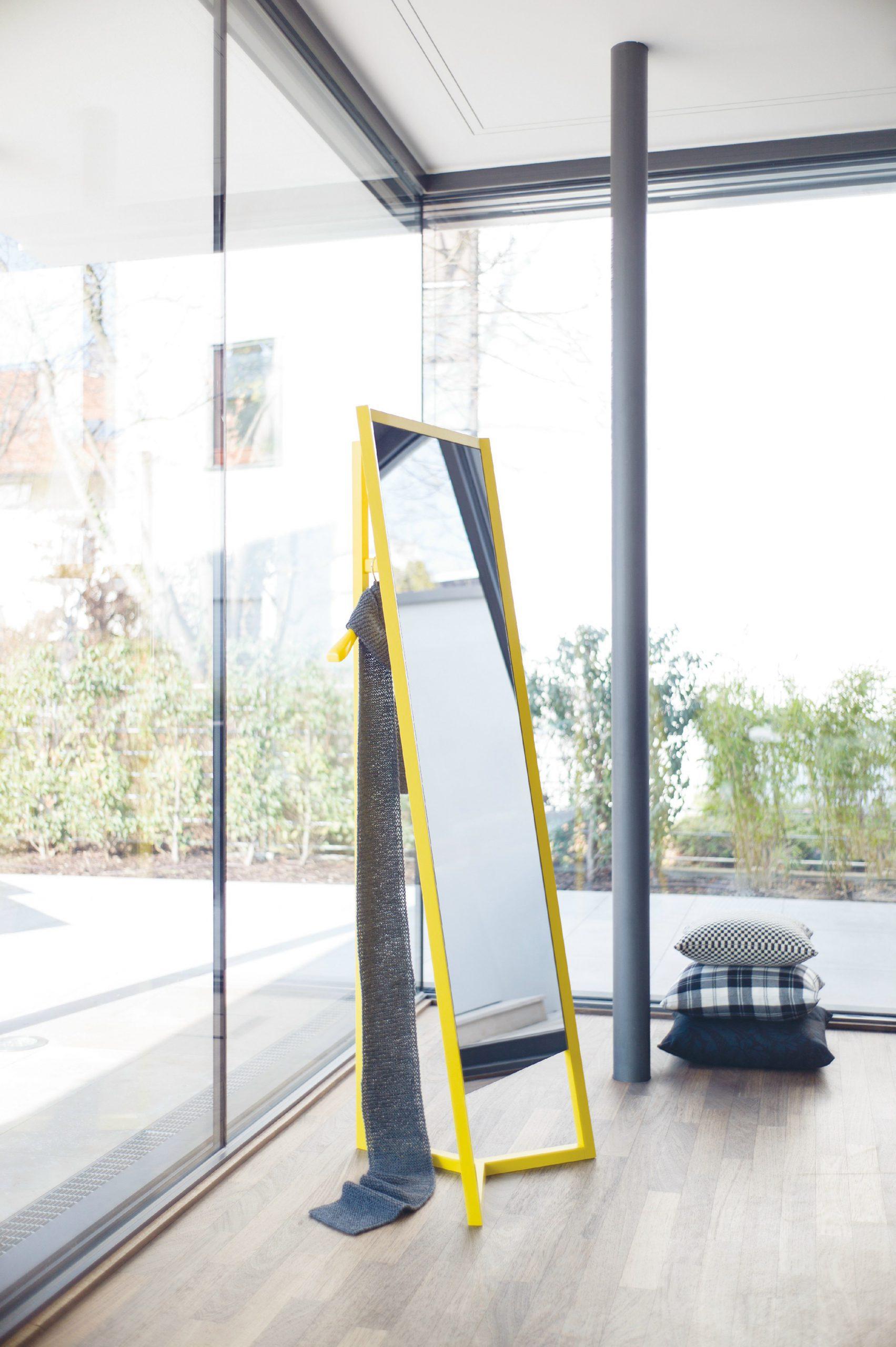 Yellow Club mirror by Debiasi Sandri for Schoenbuch