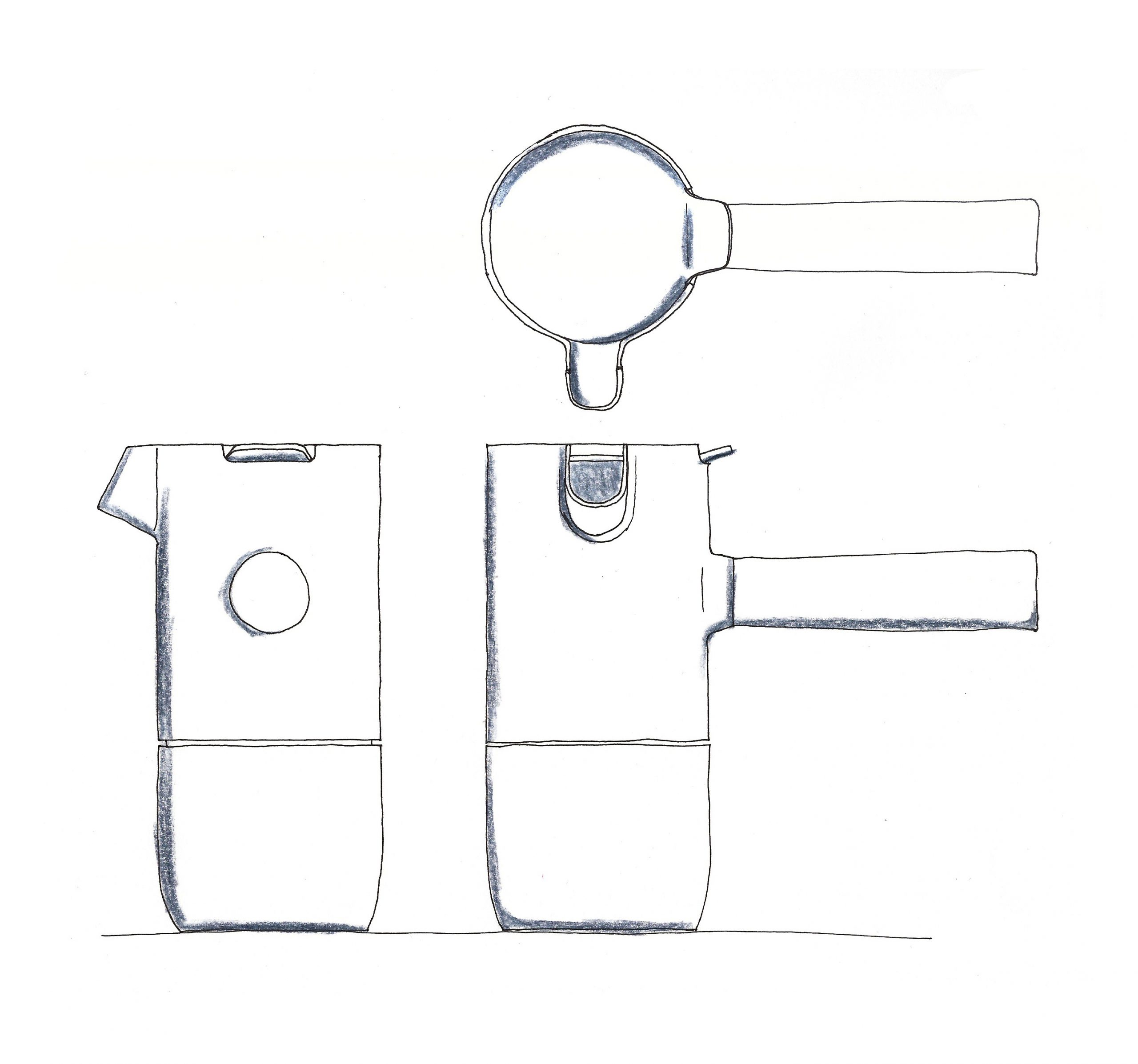 Concept sketch of Collar coffee set by Debiasi Sandri for Stelton