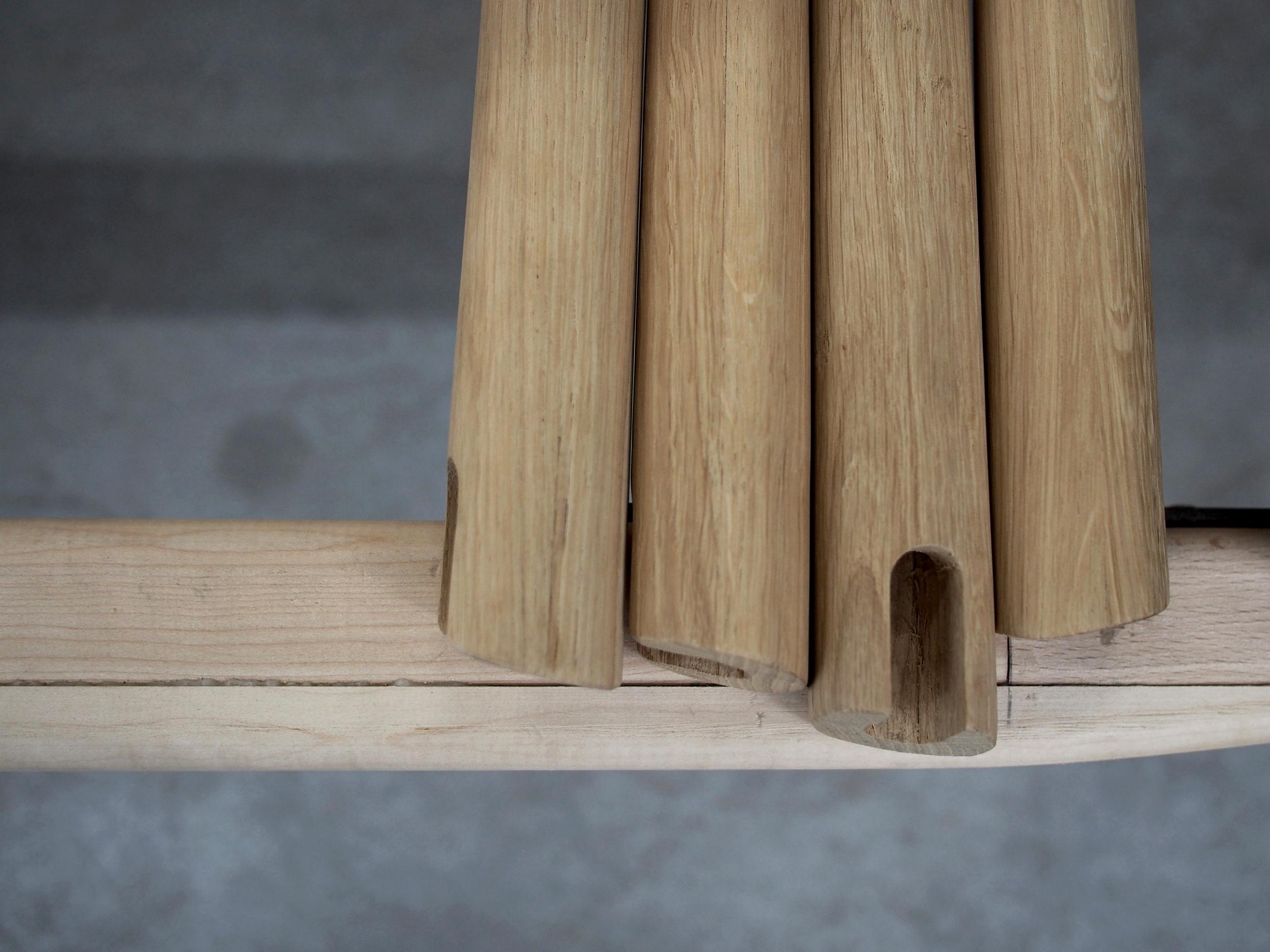 Elba chair prototype legs