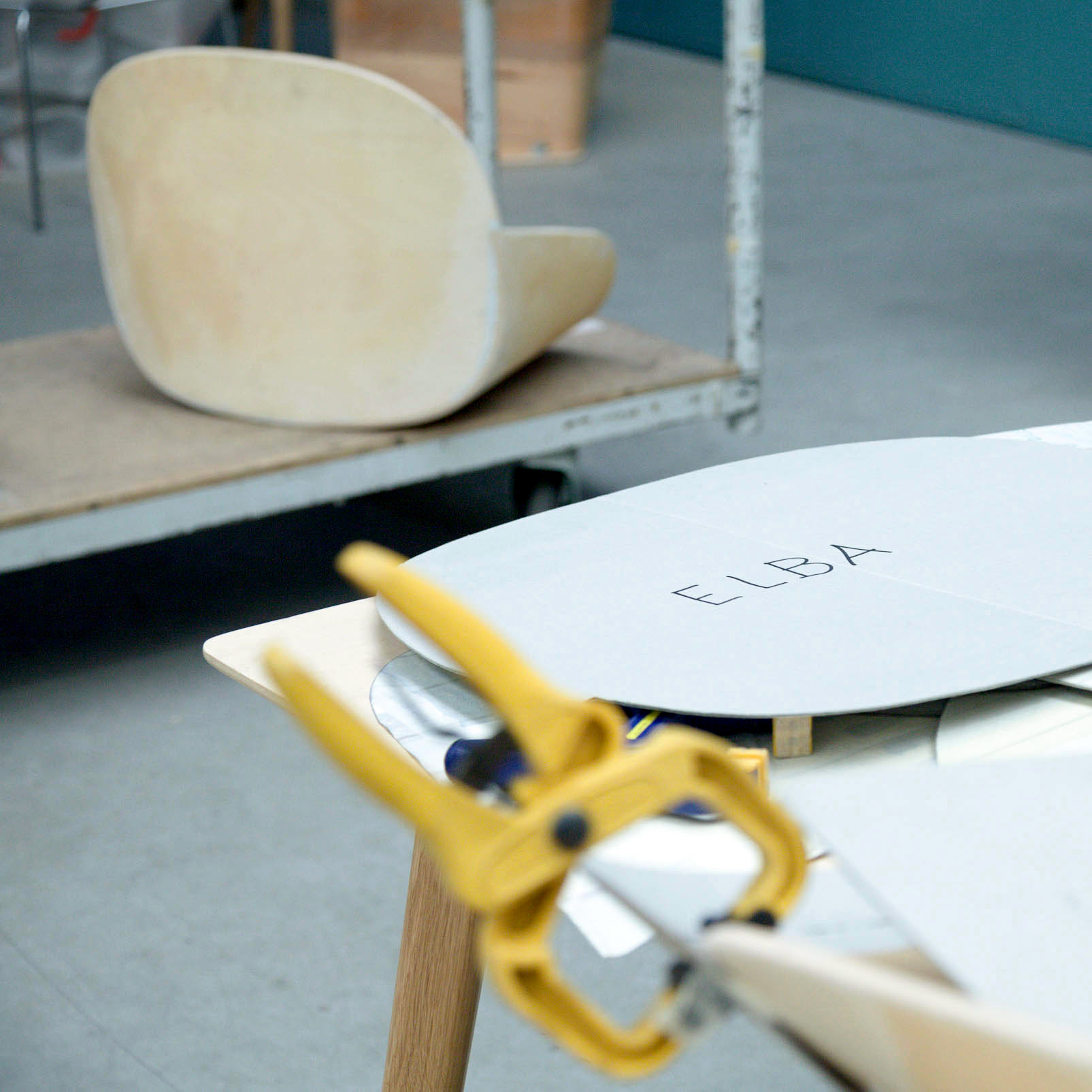 Elba chair model making