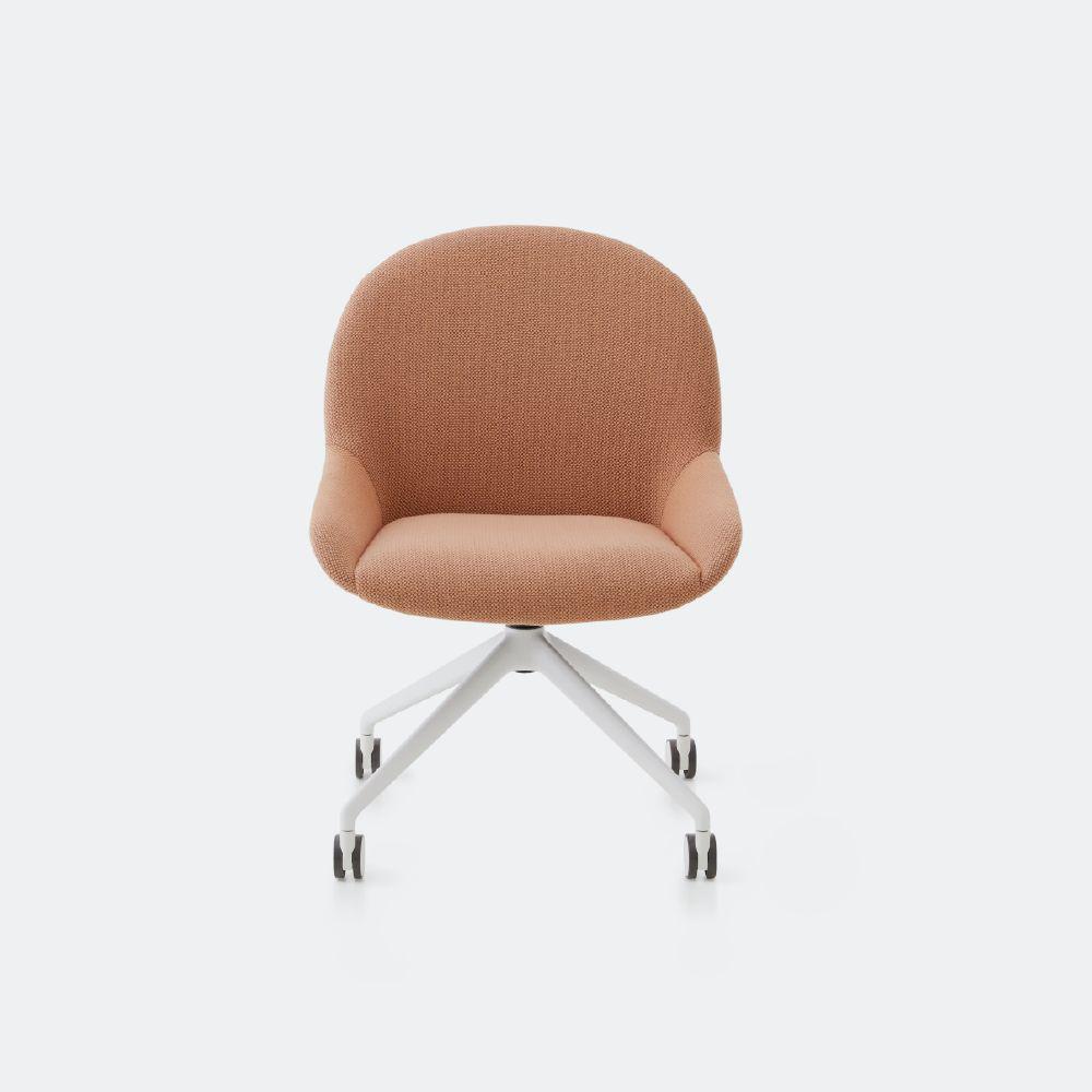 Elba chair on white four wheel star base