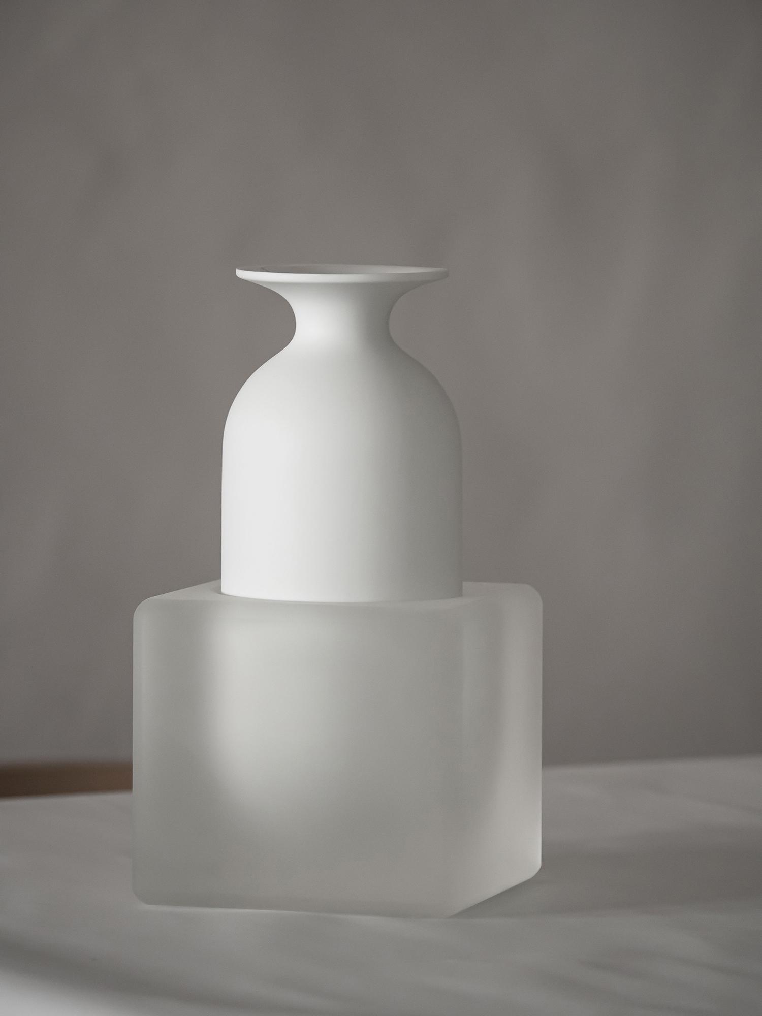 Freddo vase in white for Rosenthal, designed by Debiasi Sandri