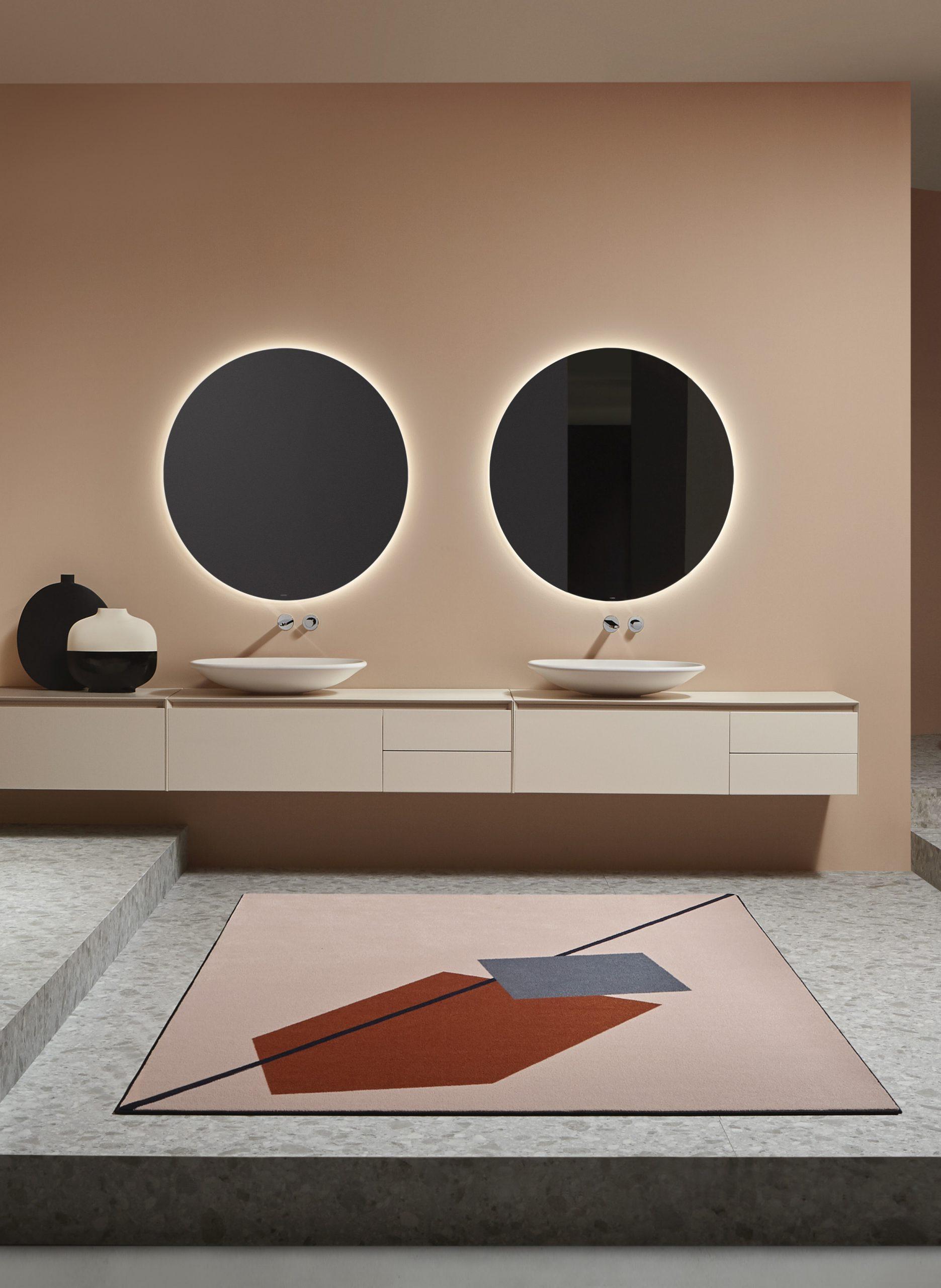 Interior with Rim washbowls by Debiasi Sandri for Antoniolupi