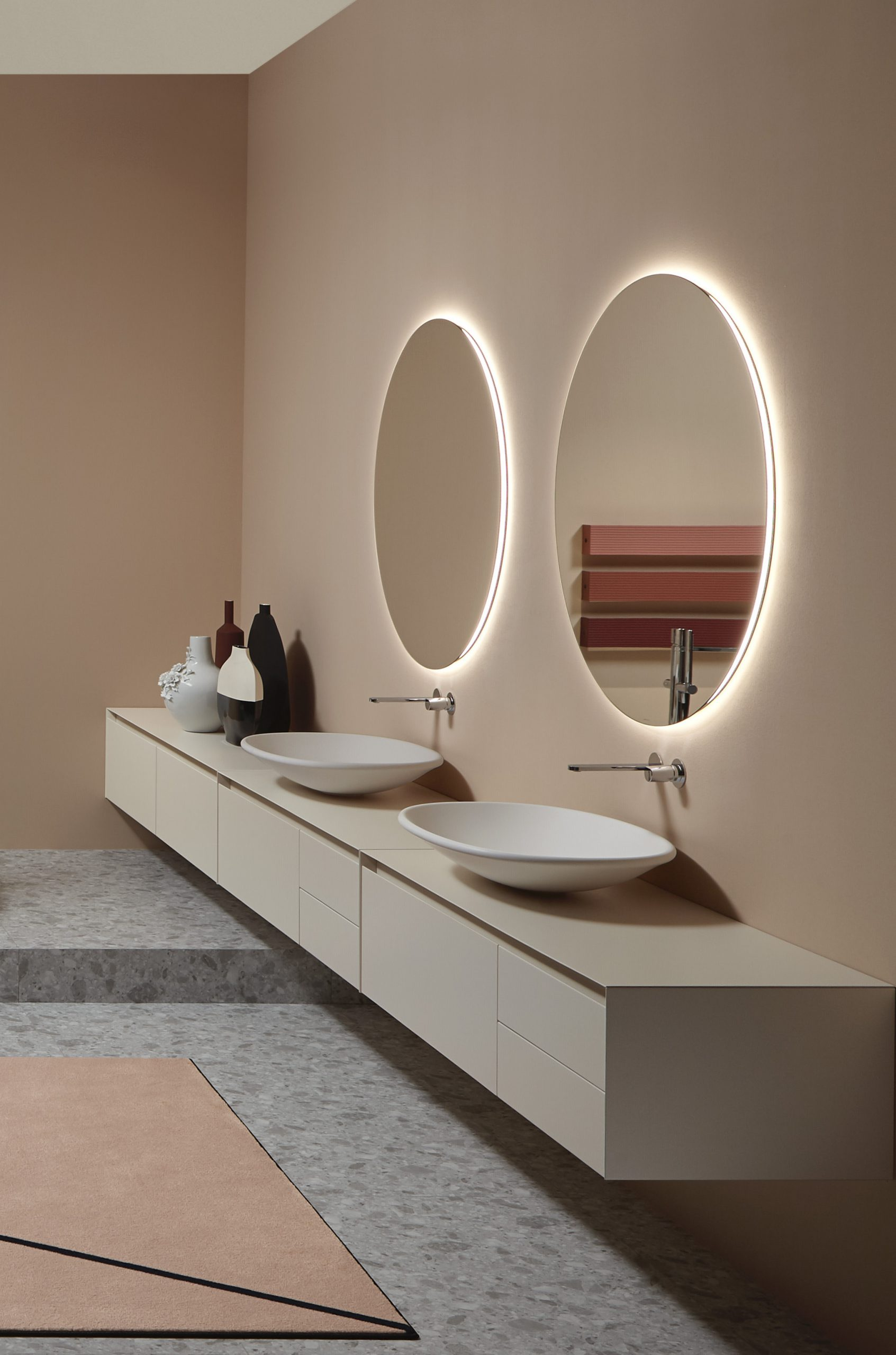 Interior with Rim washbasins by Debiasi Sandri