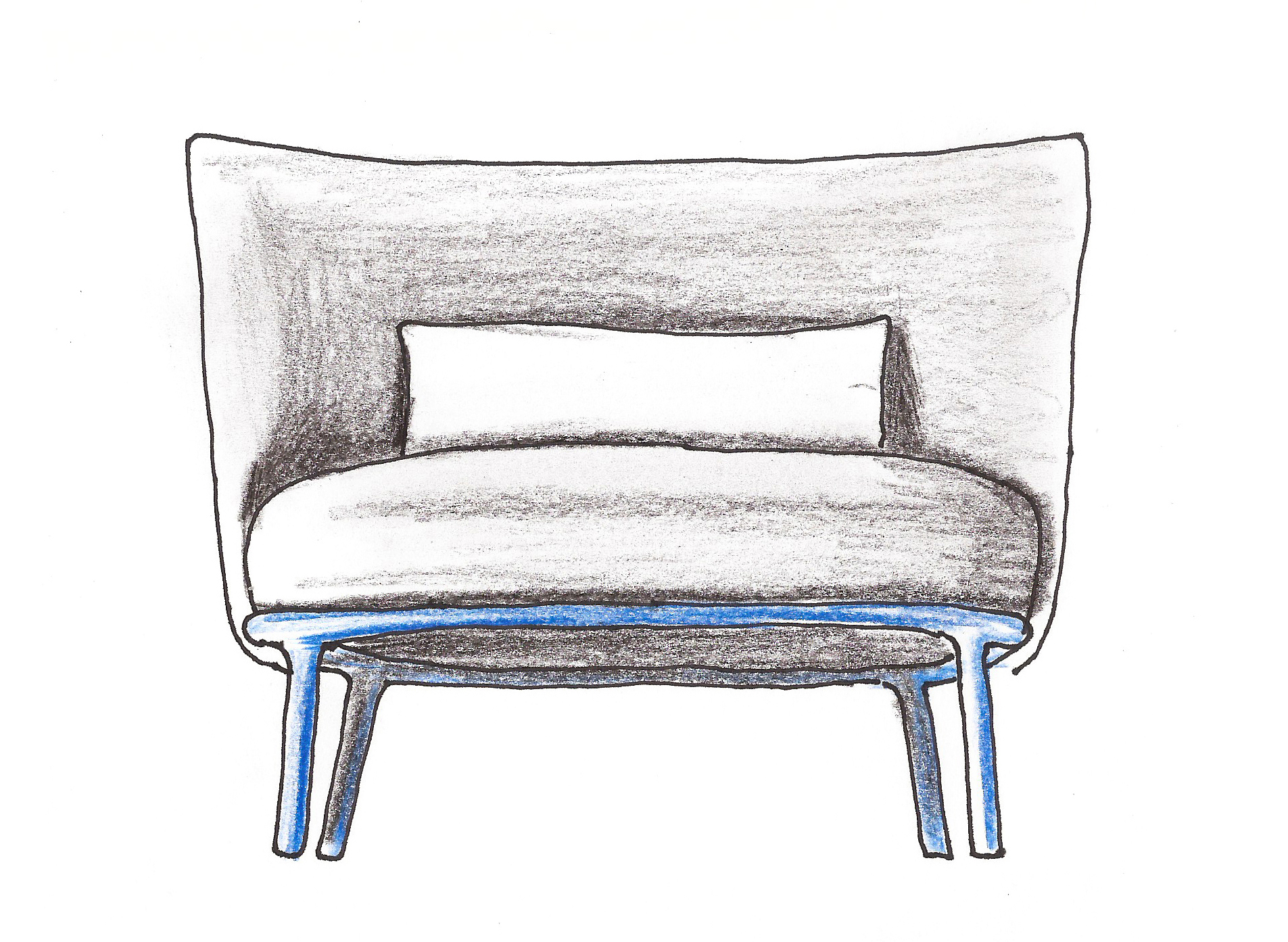 Shift easychair sketch by Debiasi Sandri for Offecct