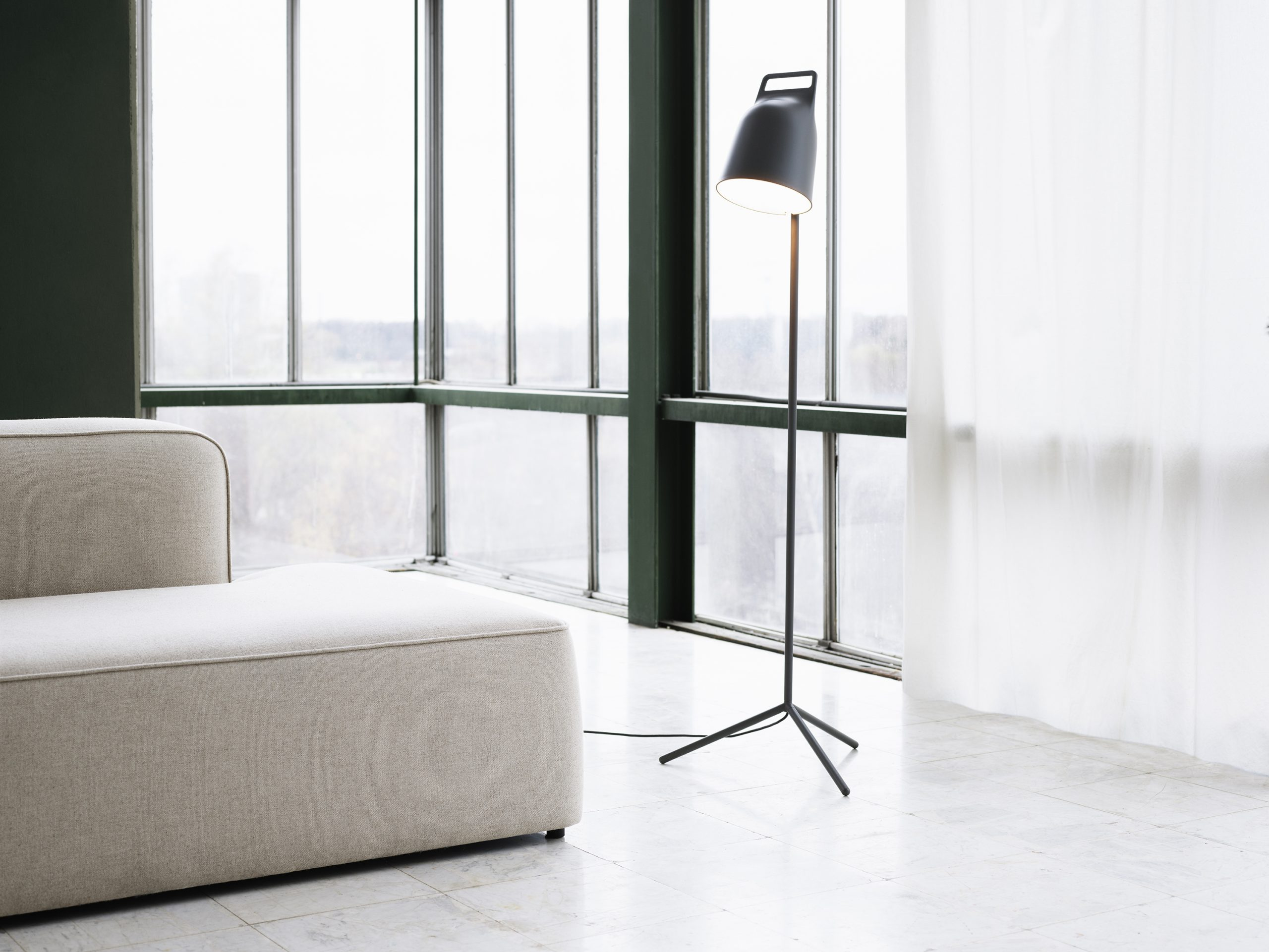 Black Stage floor lamp by Debiasi Sandri for Normann Copenhagen