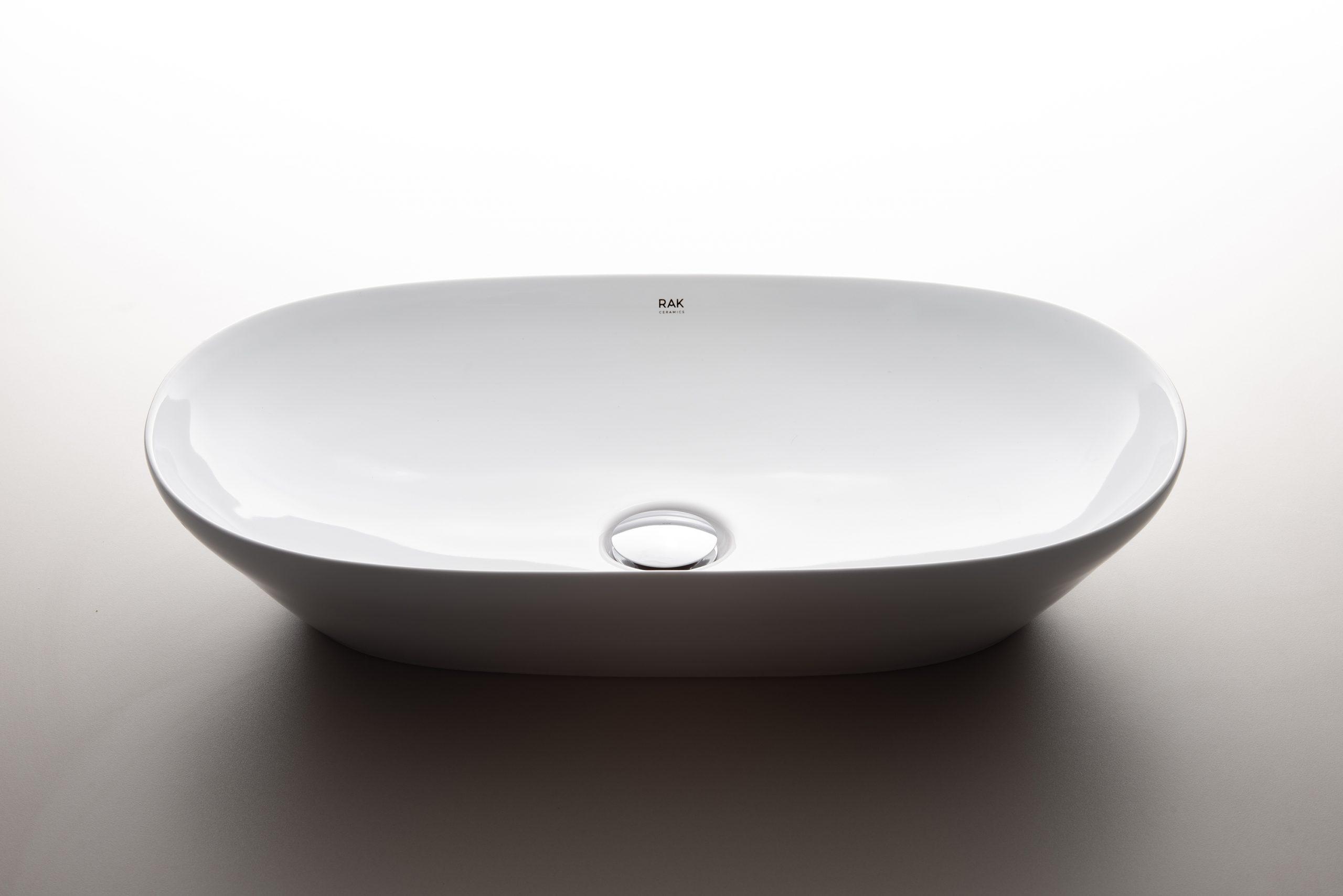 Oval washbasin Variant washbasins designed by Debiasi Sandri for RAK Ceramics
