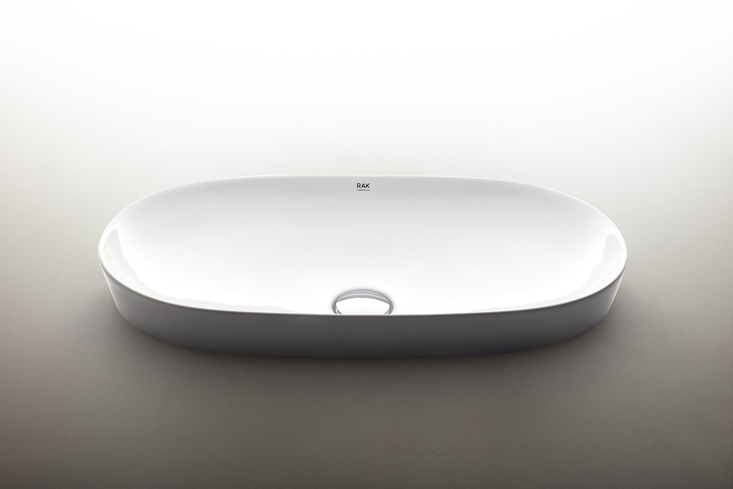 Oval Variant washbasin designed by Debiasi Sandri for RAK Ceramics