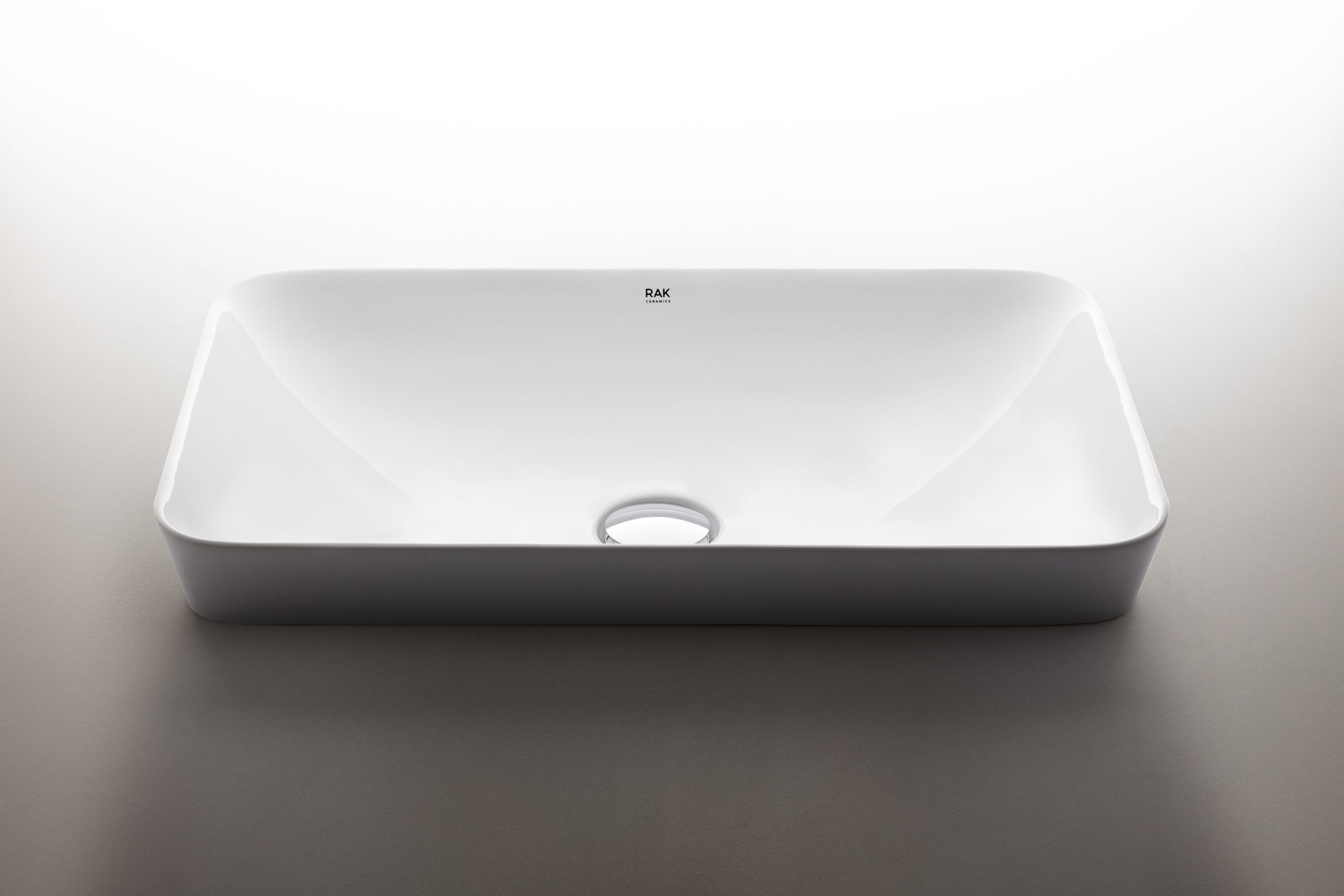 Rectangular Variant washbasin designed by Debiasi Sandri for RAK Ceramics