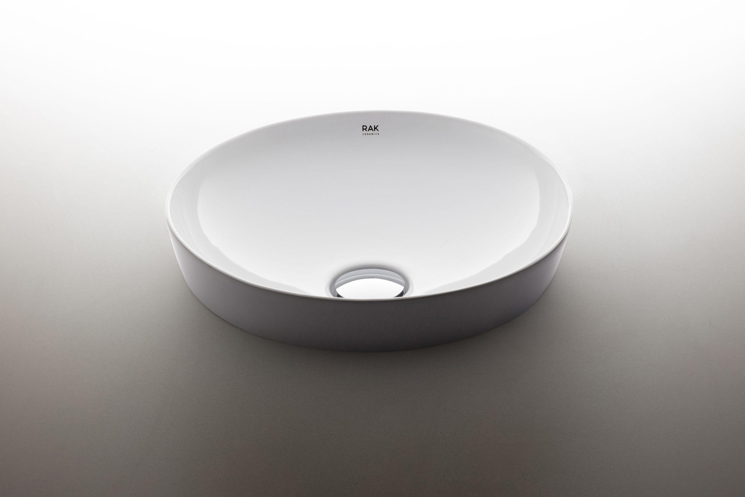 Semi built-in Round Variant washbasin designed by Debiasi Sandri for RAK Ceramics