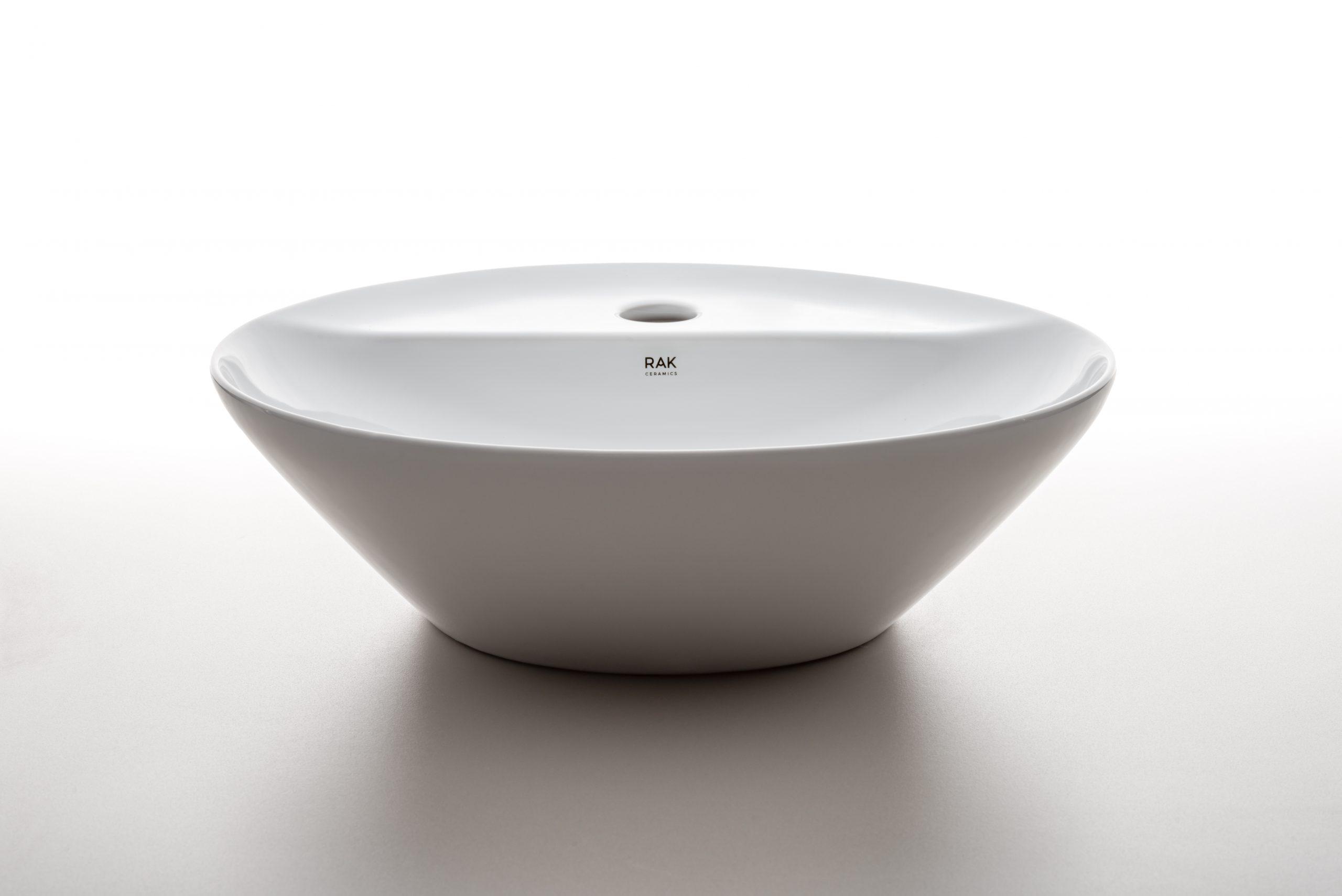 Round Variant washbasins designed by Debiasi Sandri for RAK Ceramics