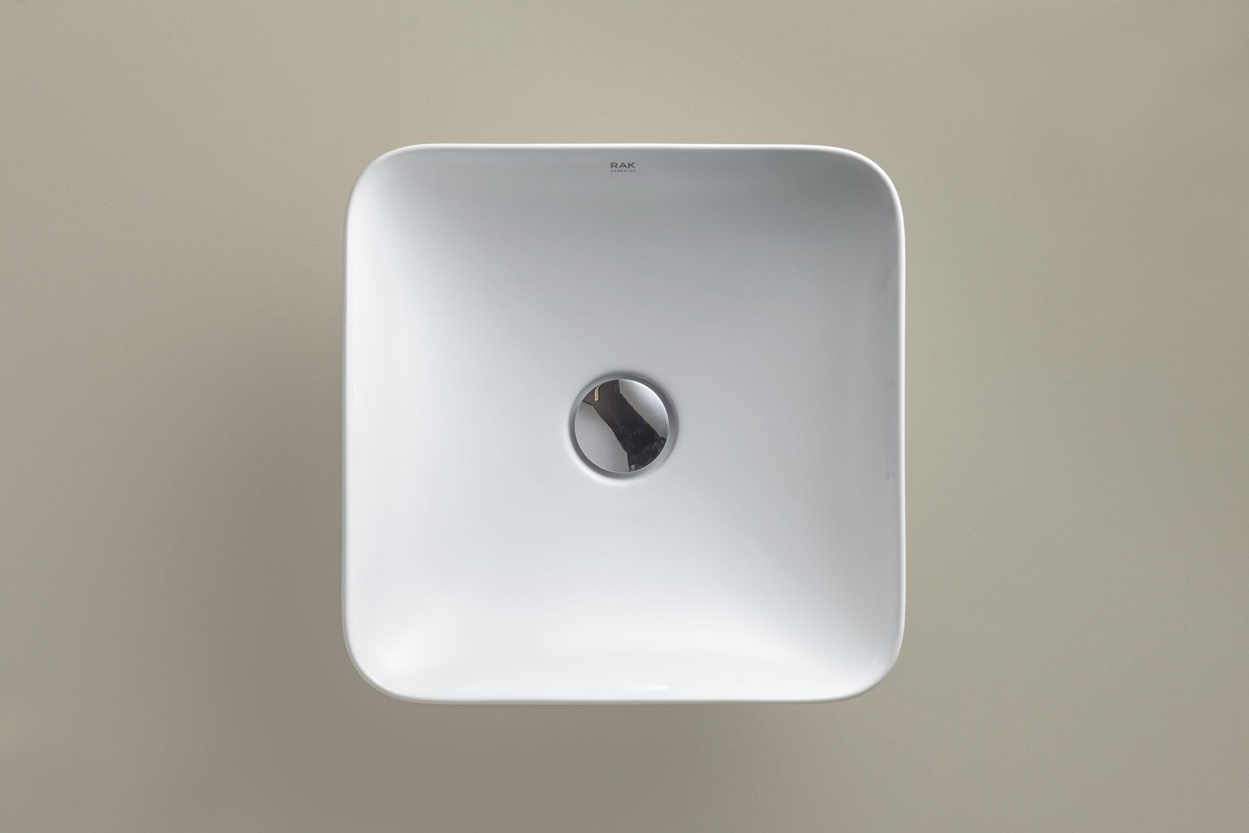 Square Variant washbasins designed by Debiasi Sandri for RAK Ceramics