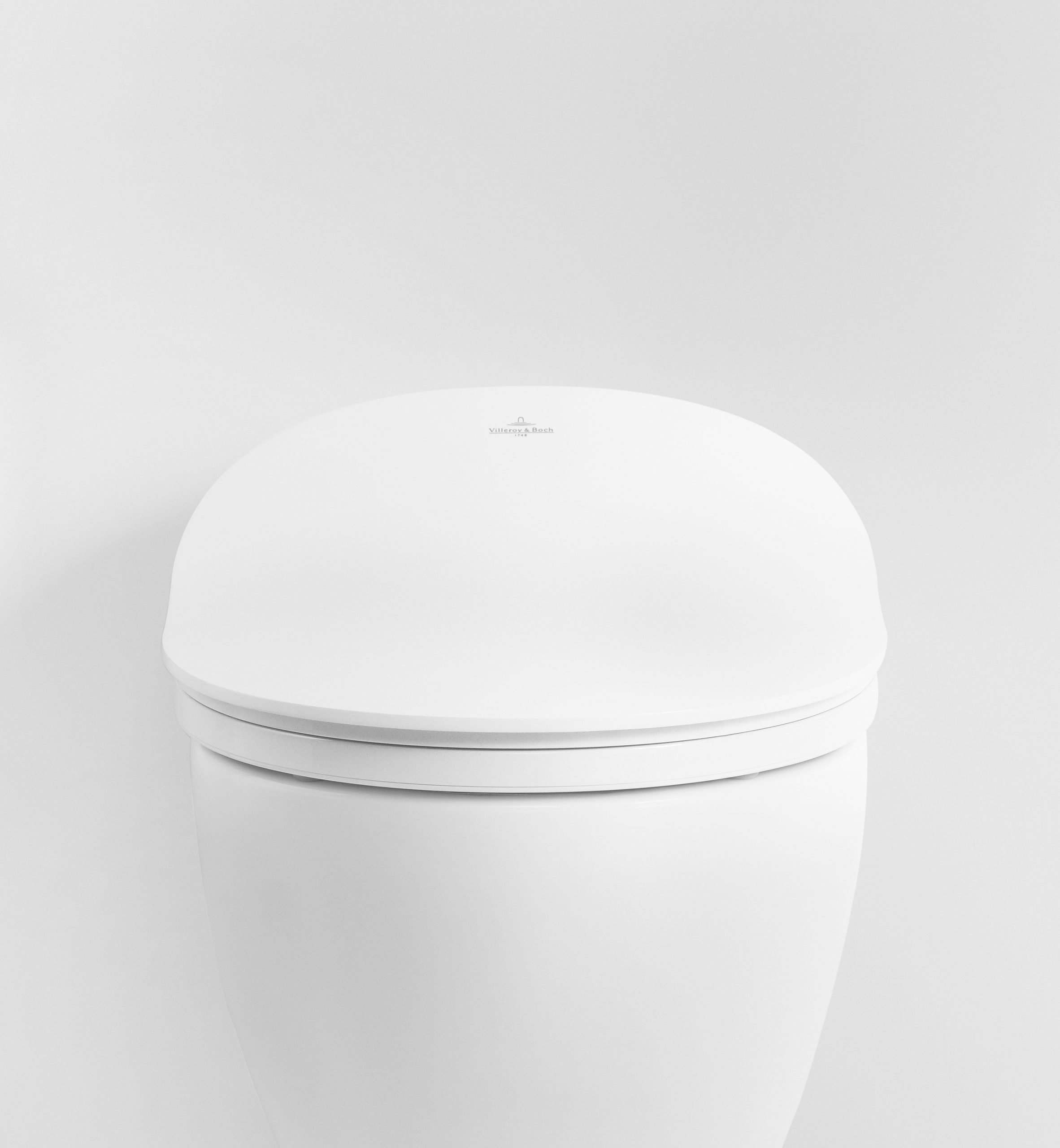 Front view of ViClean electronic Bidet by Debiasi sandri for Villeroy and Boch