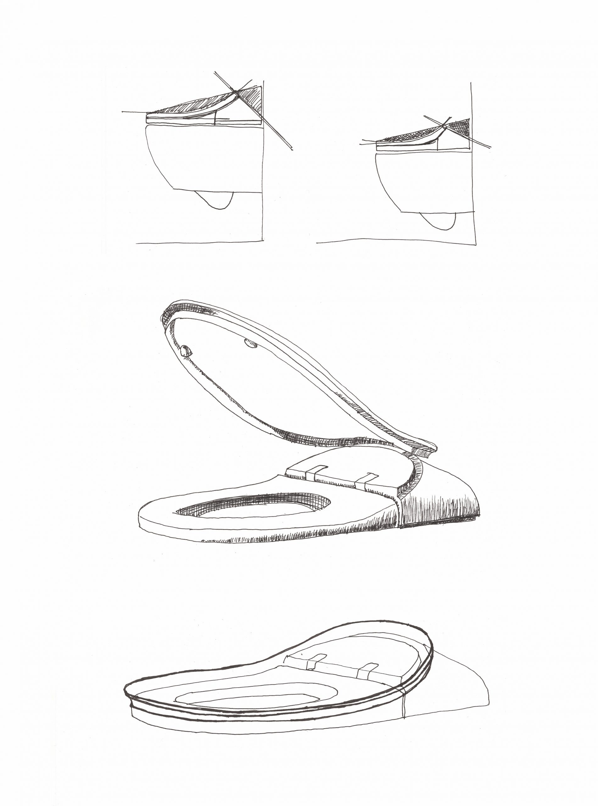 Sketch of ViClean electronic Bidet by Debiasi sandri for Villeroy and Boch