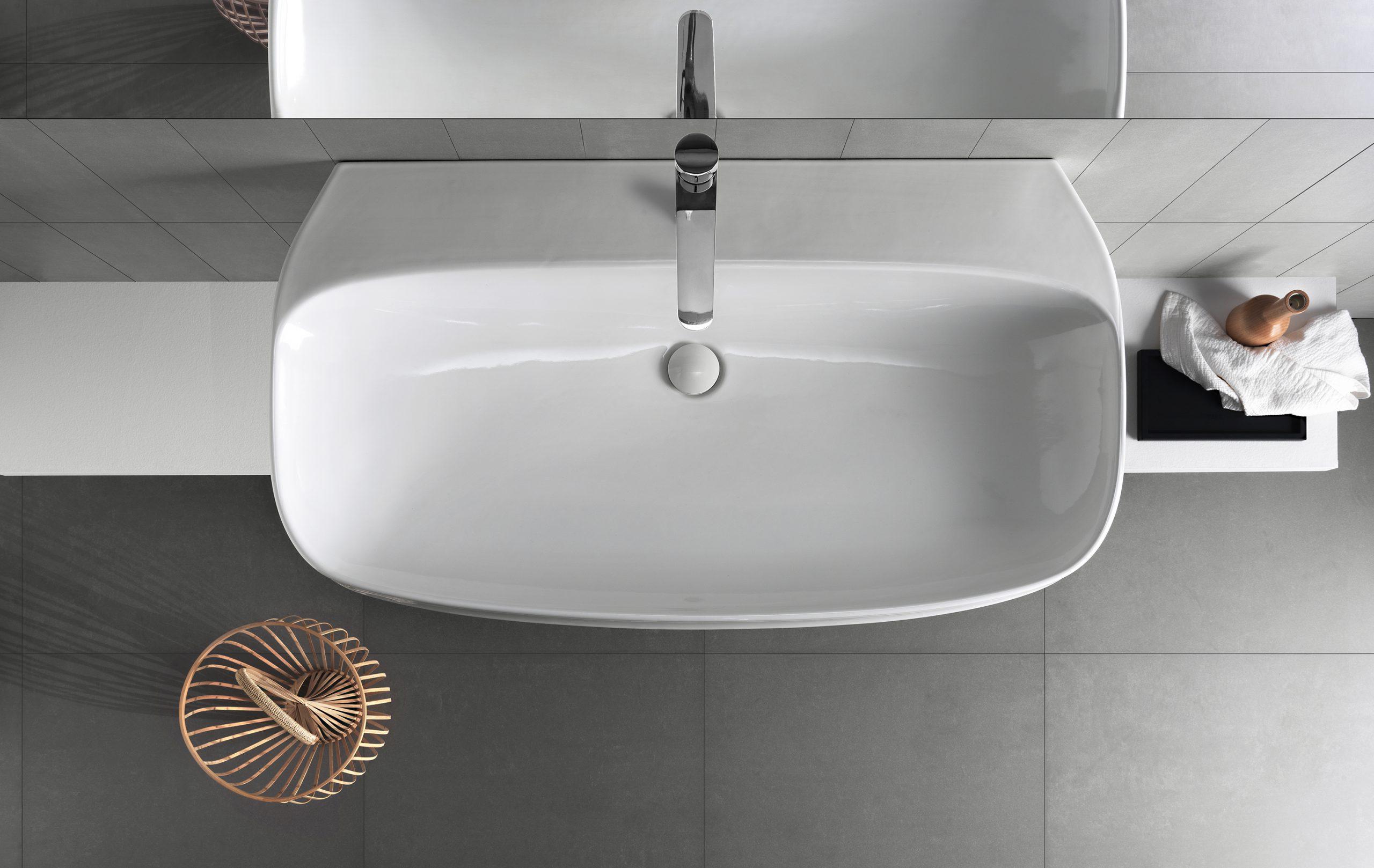 Abito wallhung washbasin by Debiasi Sandri for Hatria