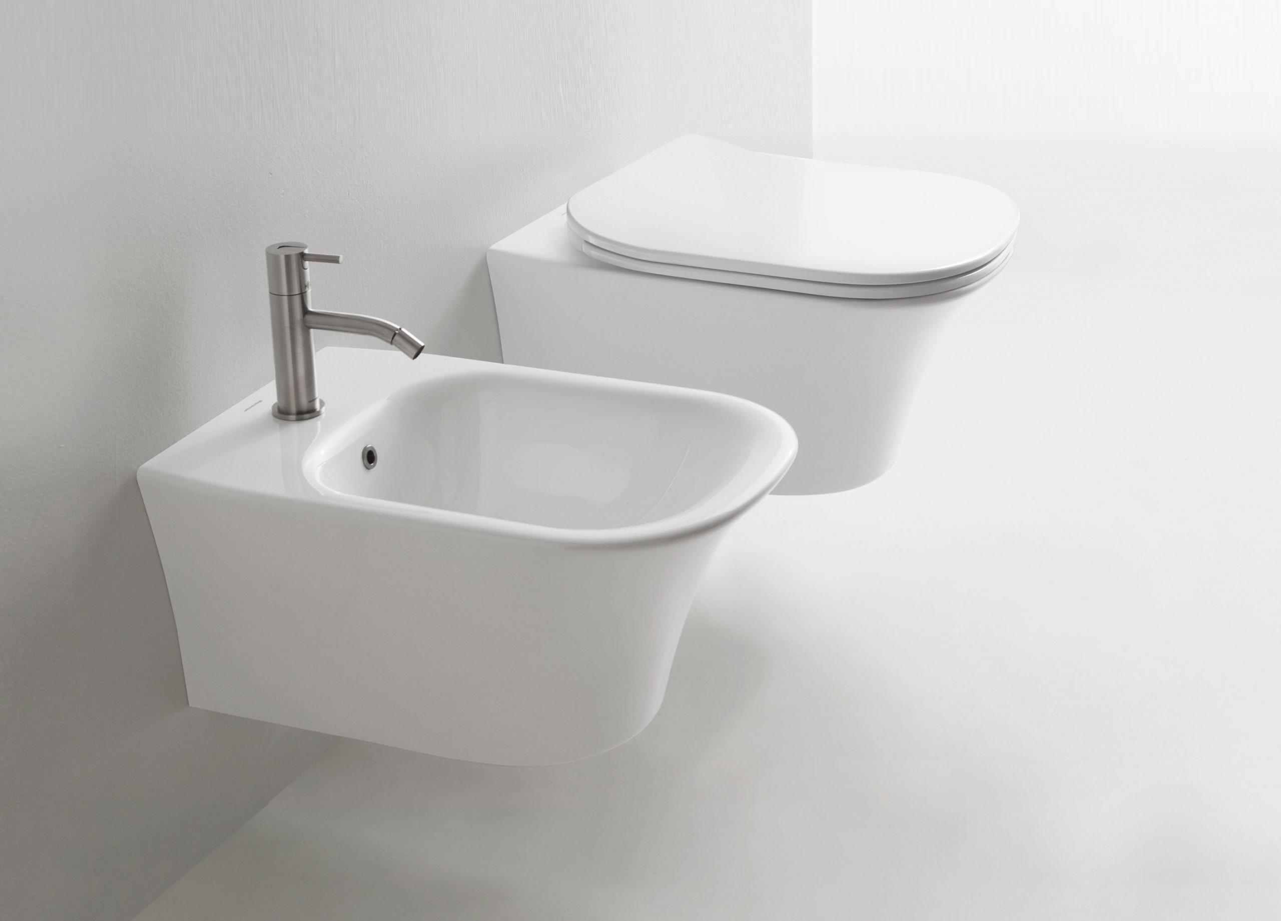 Cabo sanitaryware by Debiasi Sandri for Antoniolupi, toilet and bidet