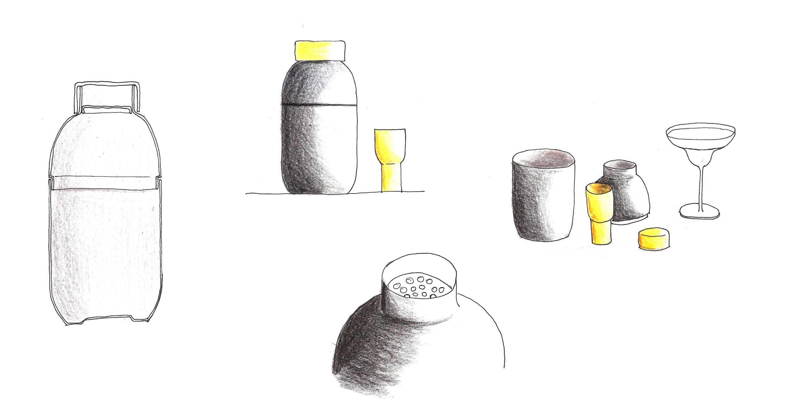 Sketch of the Collar bar set by Debiasi Sandri for Stelton