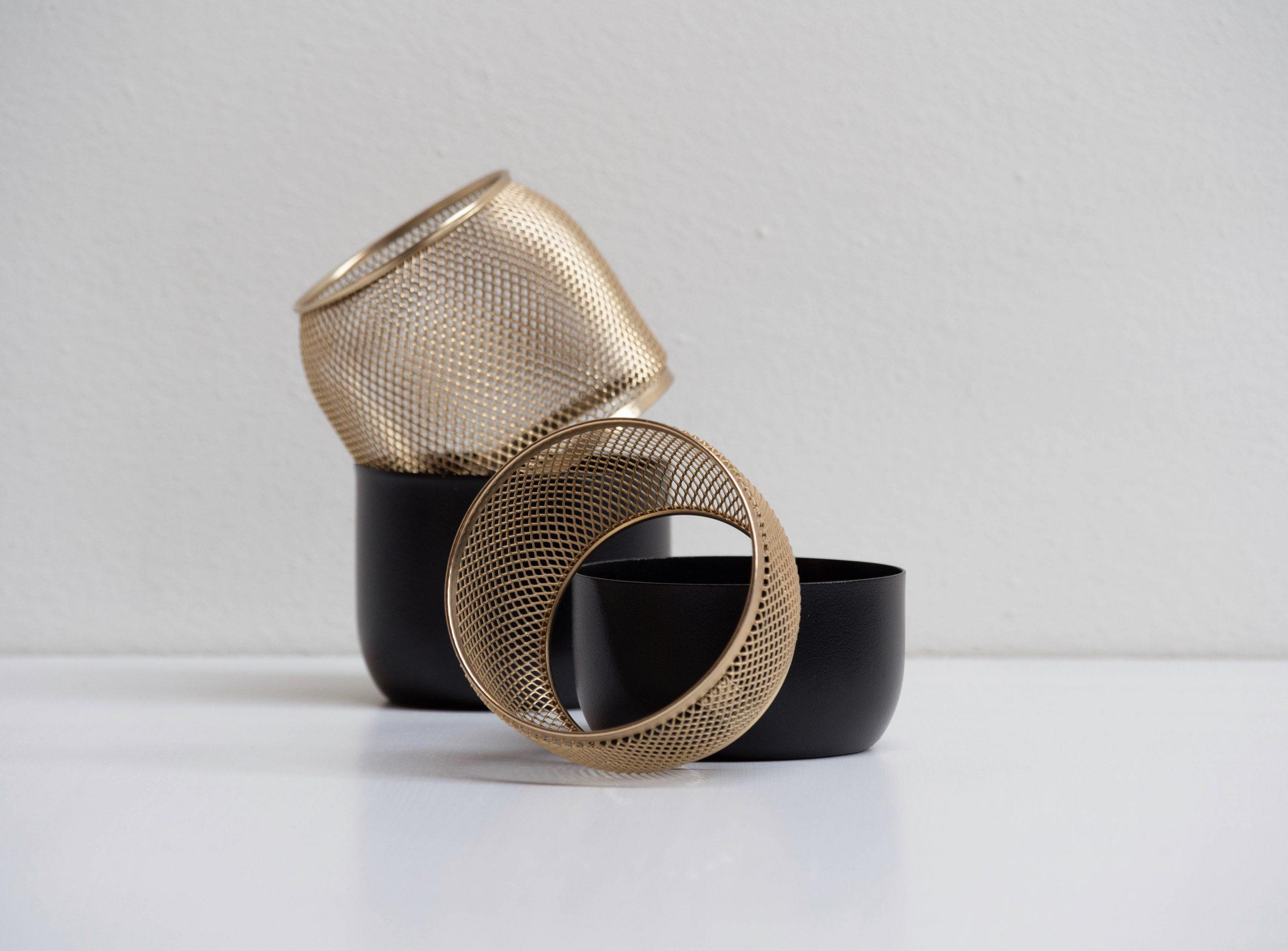 Collar Mesh Tealight holder by Debiasi Sandri for Stelton
