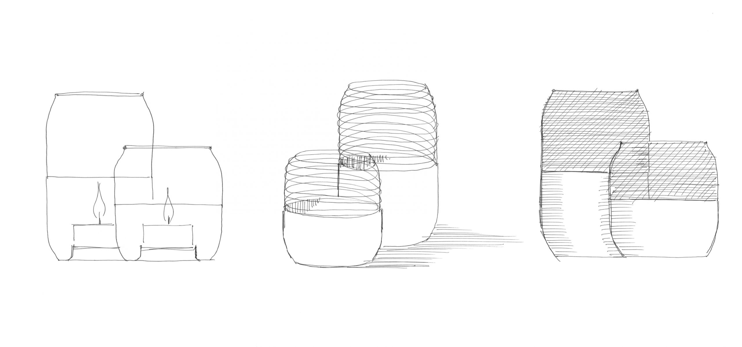 Sketch of the Collar Mesh Tealight holder by Debiasi Sandri for Stelton