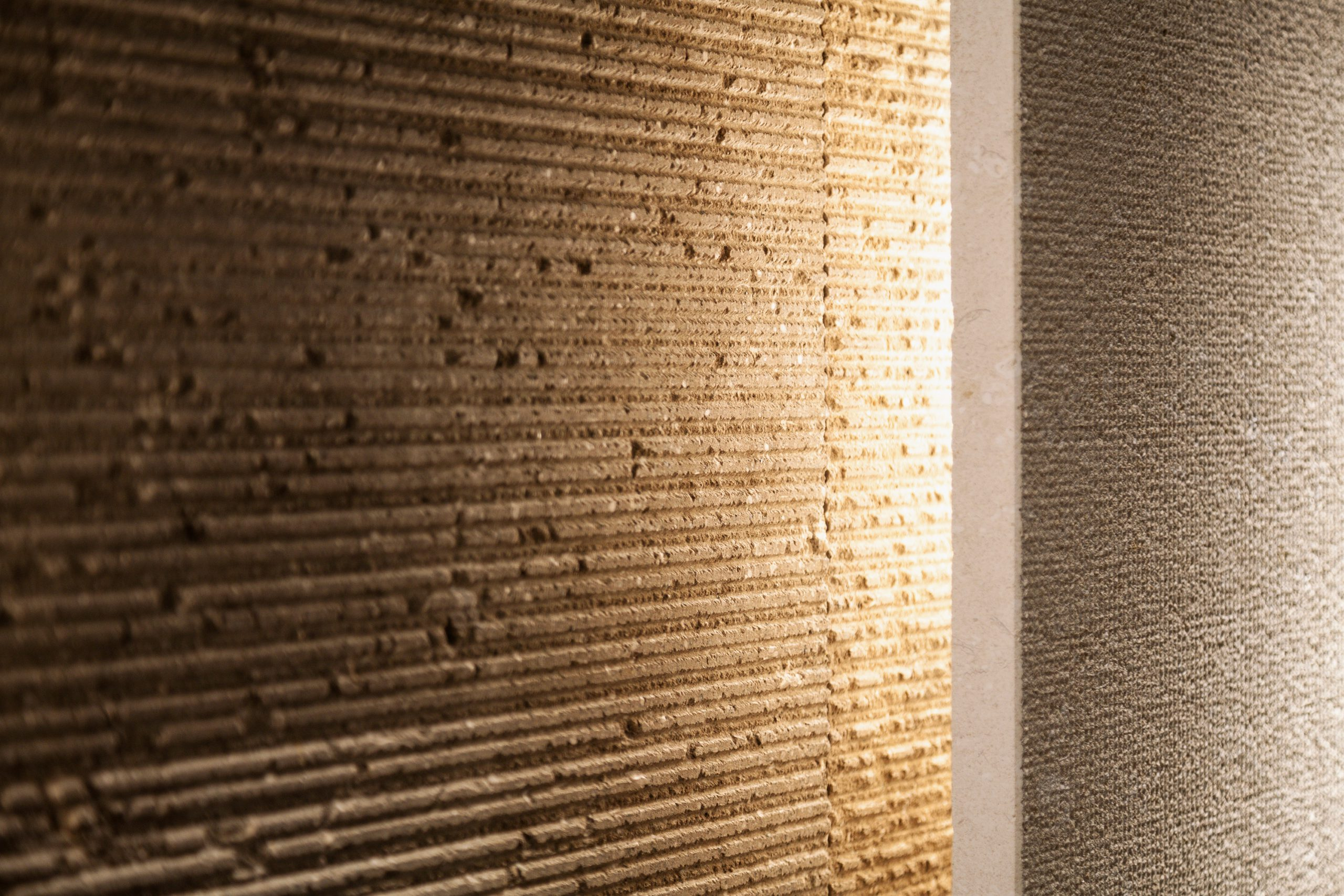 Light detail at Marmomac 2016 booth designed by Debiasi Sandri for Grassi Pietre