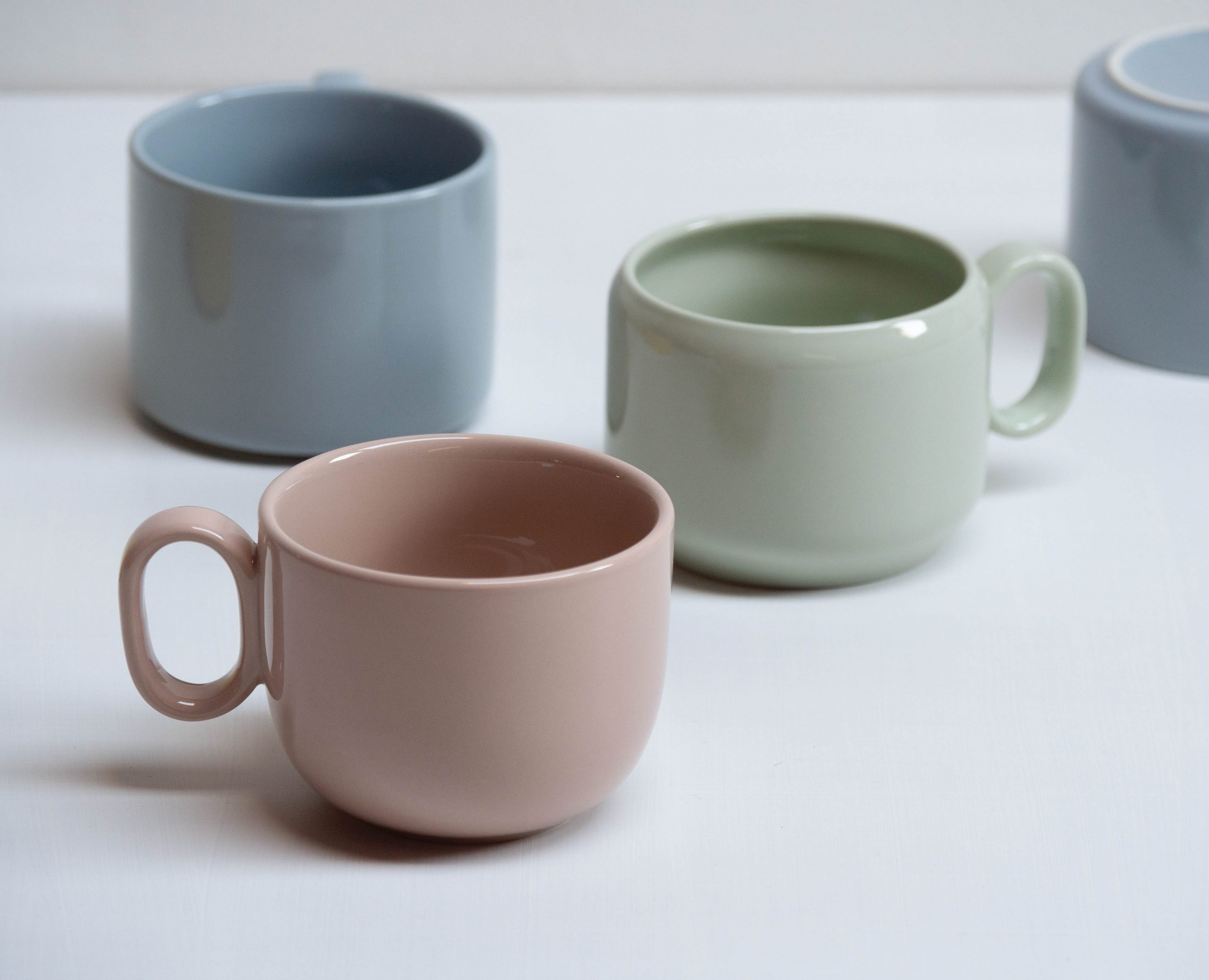 Detail of Colourful Mix N Match cups by Debiasi Sandri for RigTig