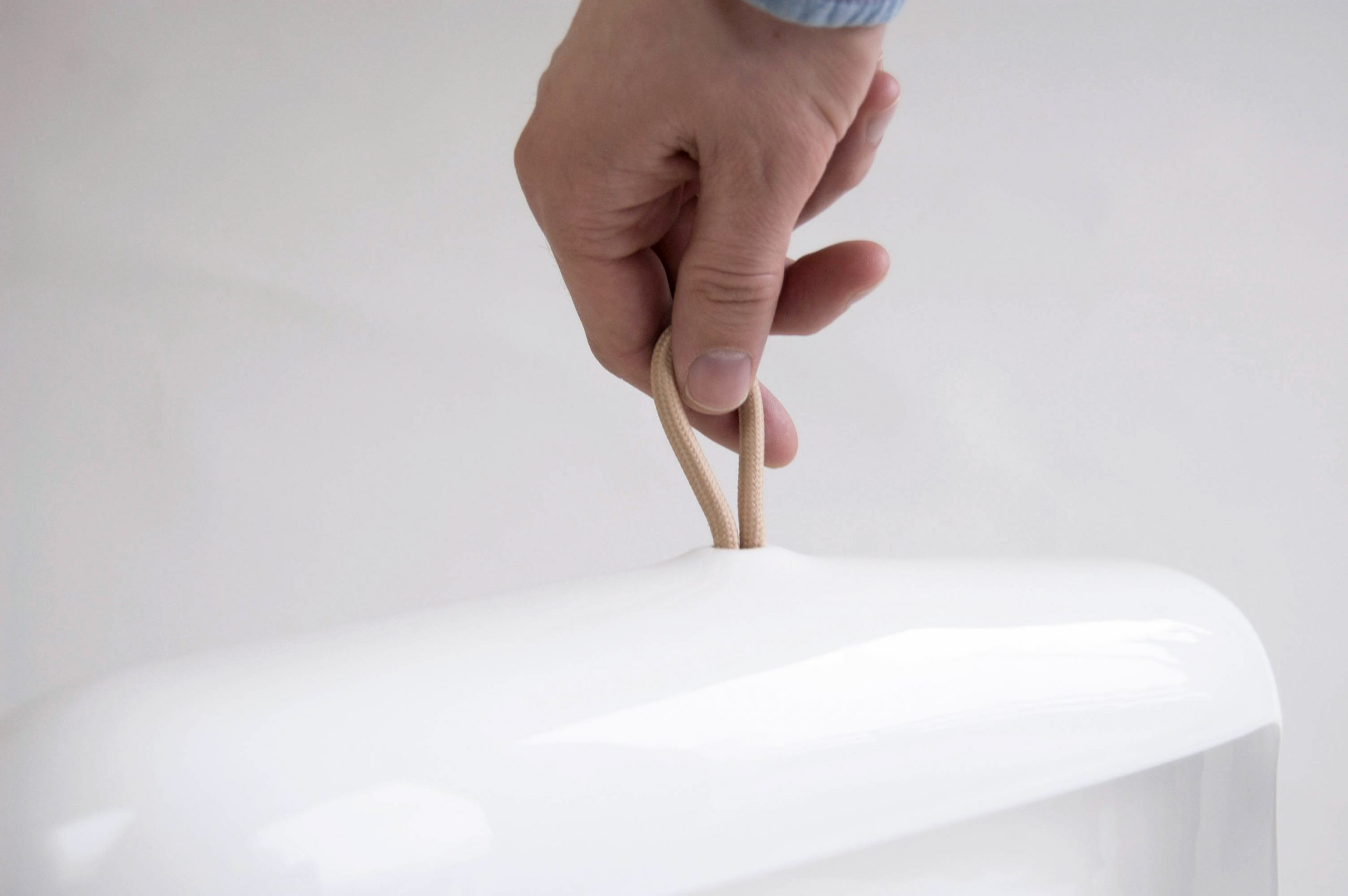 Detail of the Naica ceramic lamp by Debiasi Sandri for Ligne Roset
