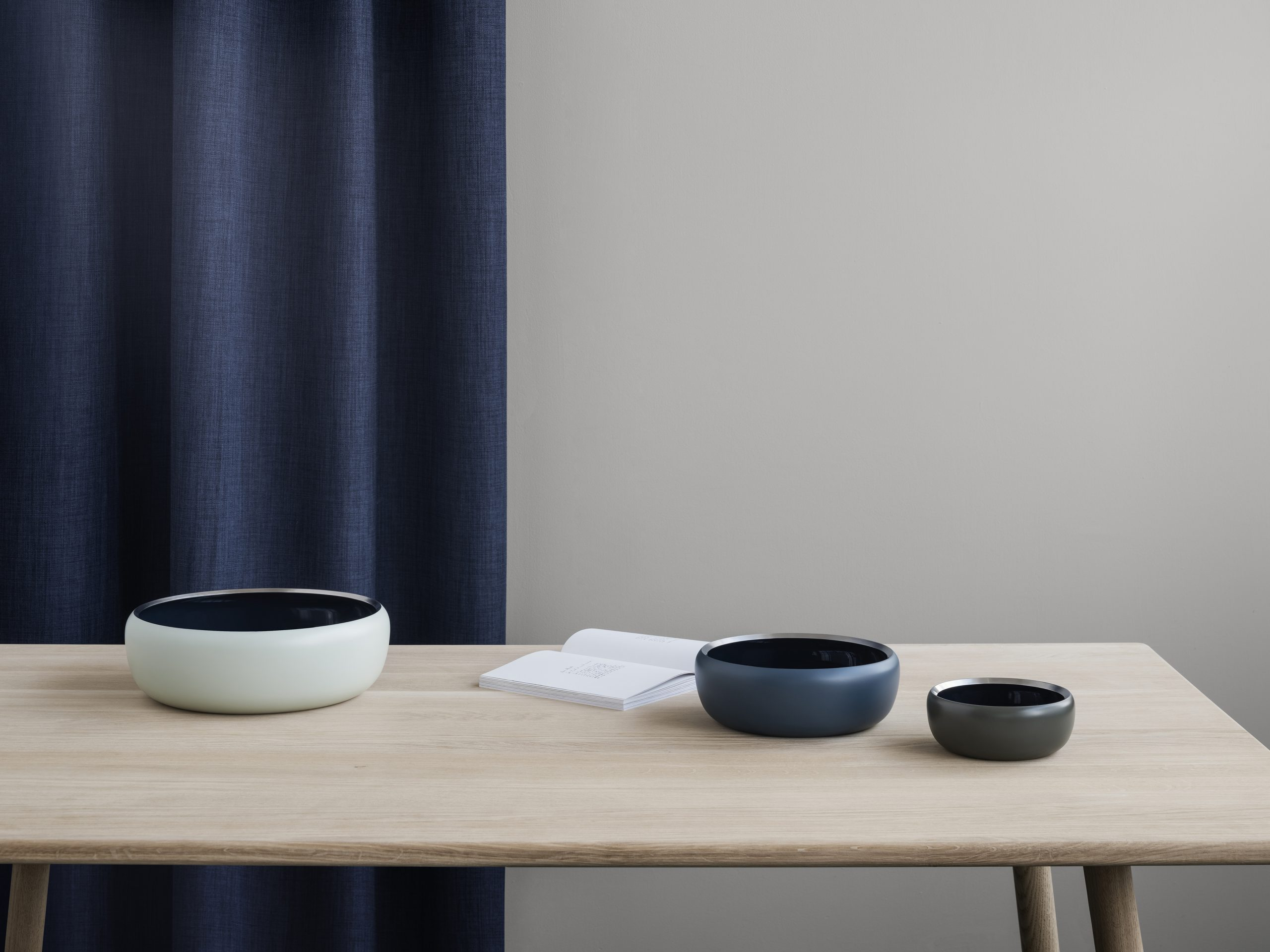 Ora bowls in Midnight blue by Debiasi Sandri for Stelton