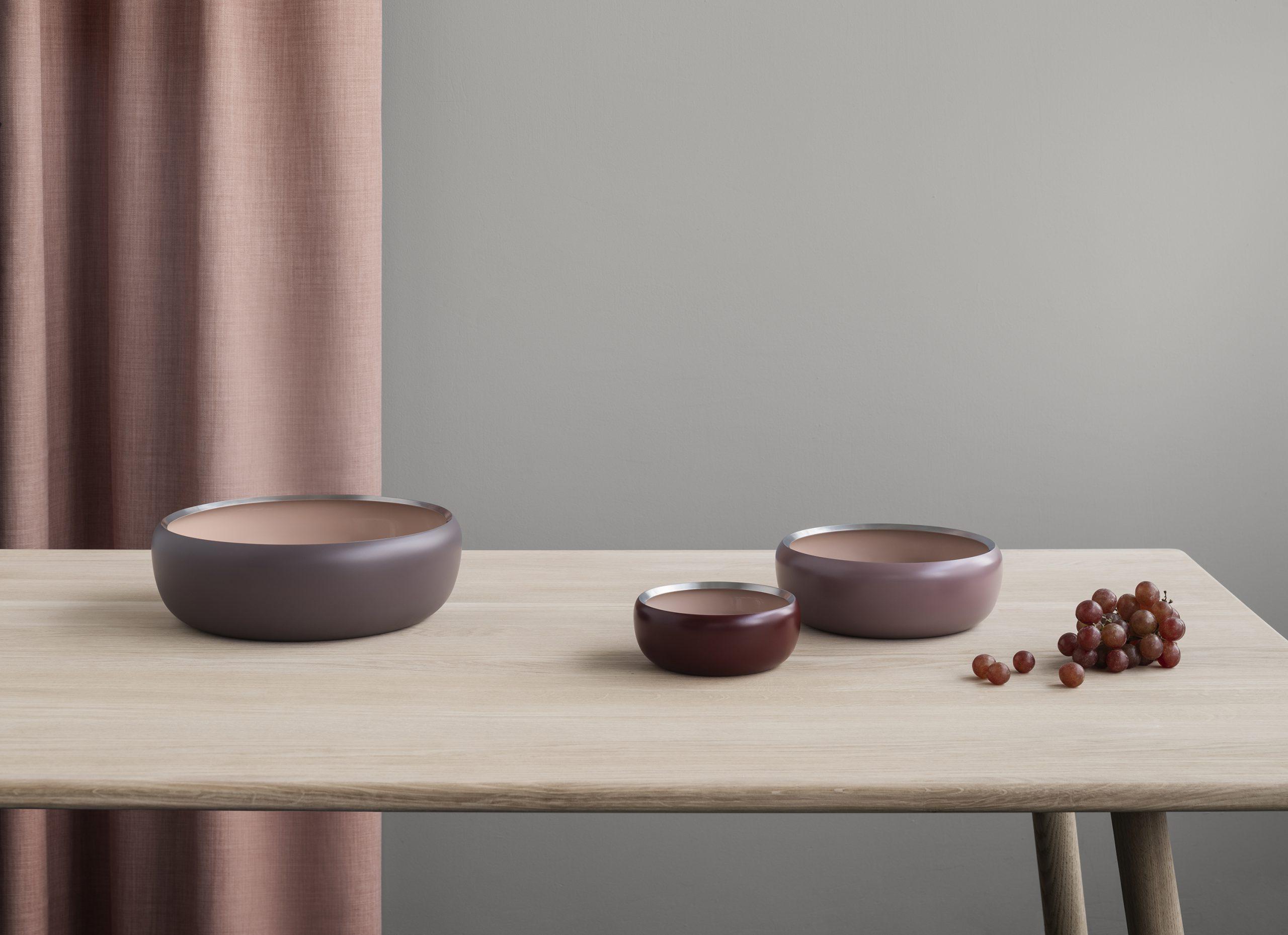 Ora bowls in Blush by Debiasi Sandri for Stelton