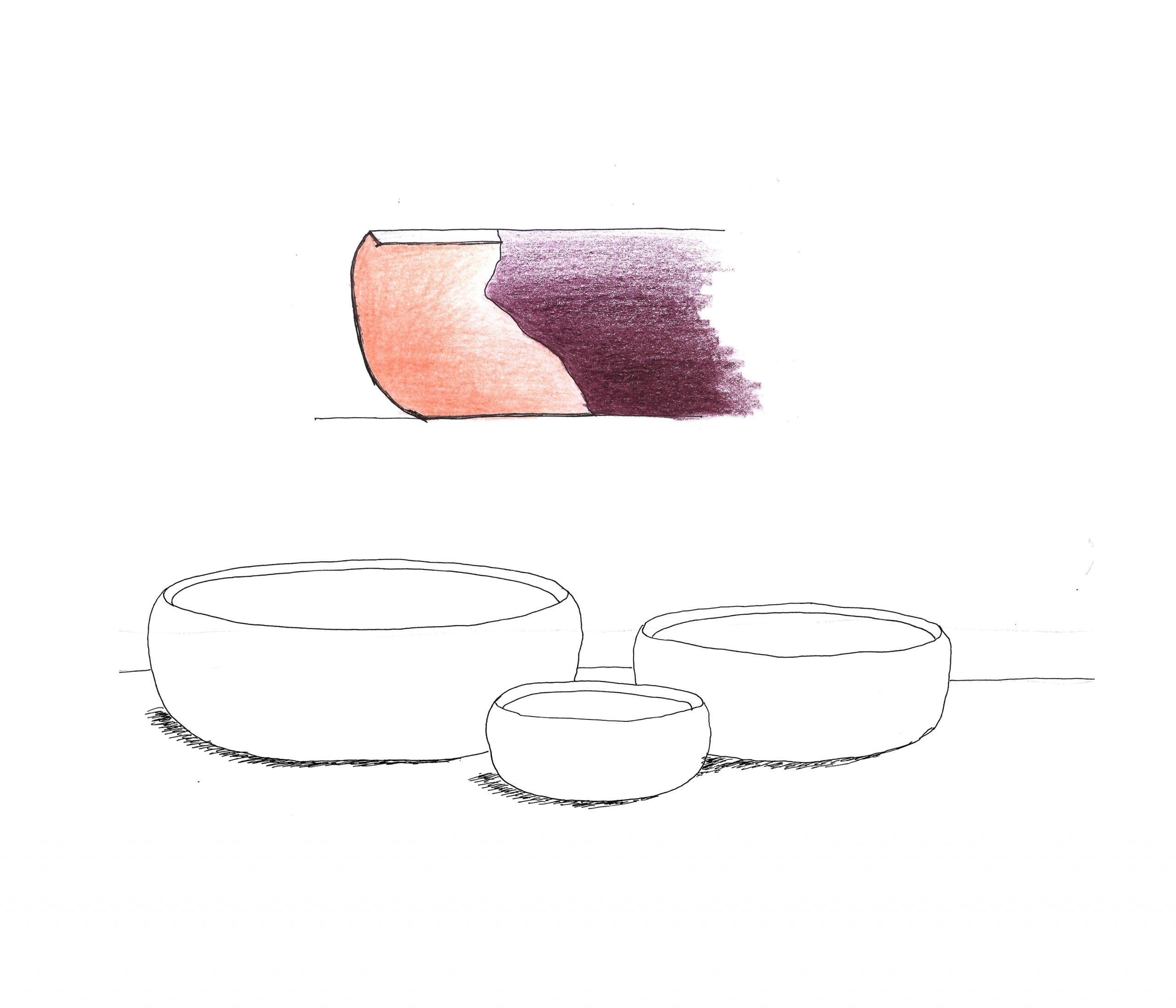 Ora bowls concept sketch by Debiasi Sandri for Stelton