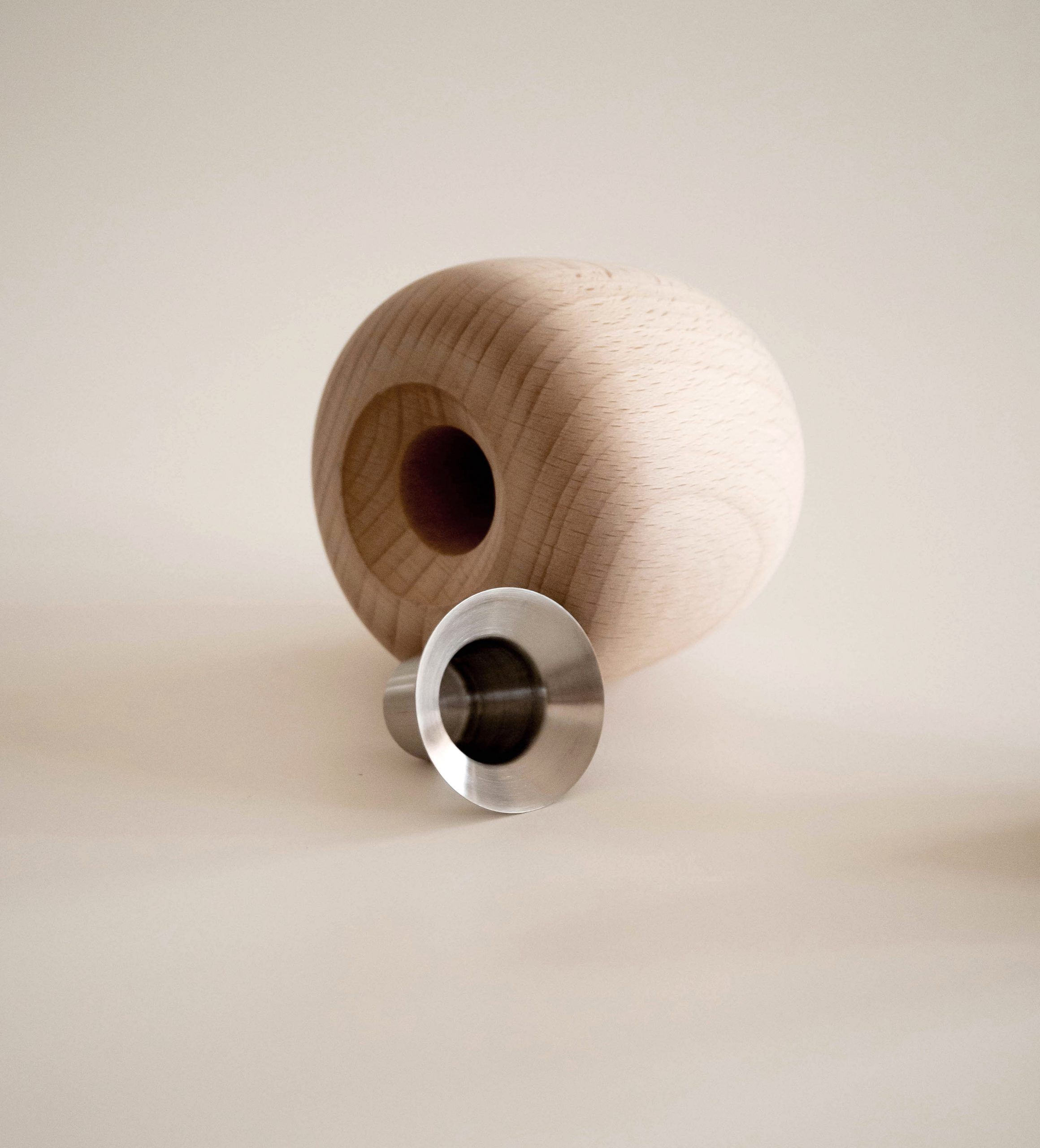 Ora candle holder wood detail by Debiasi Sandri for Stelton