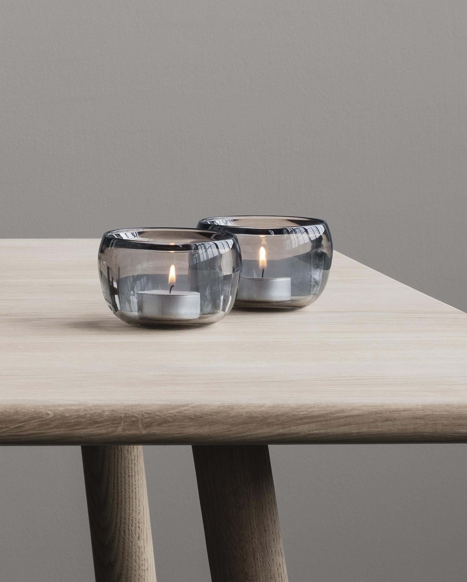 Ora glass tea-light holder by Debiasi Sandri for Stelton