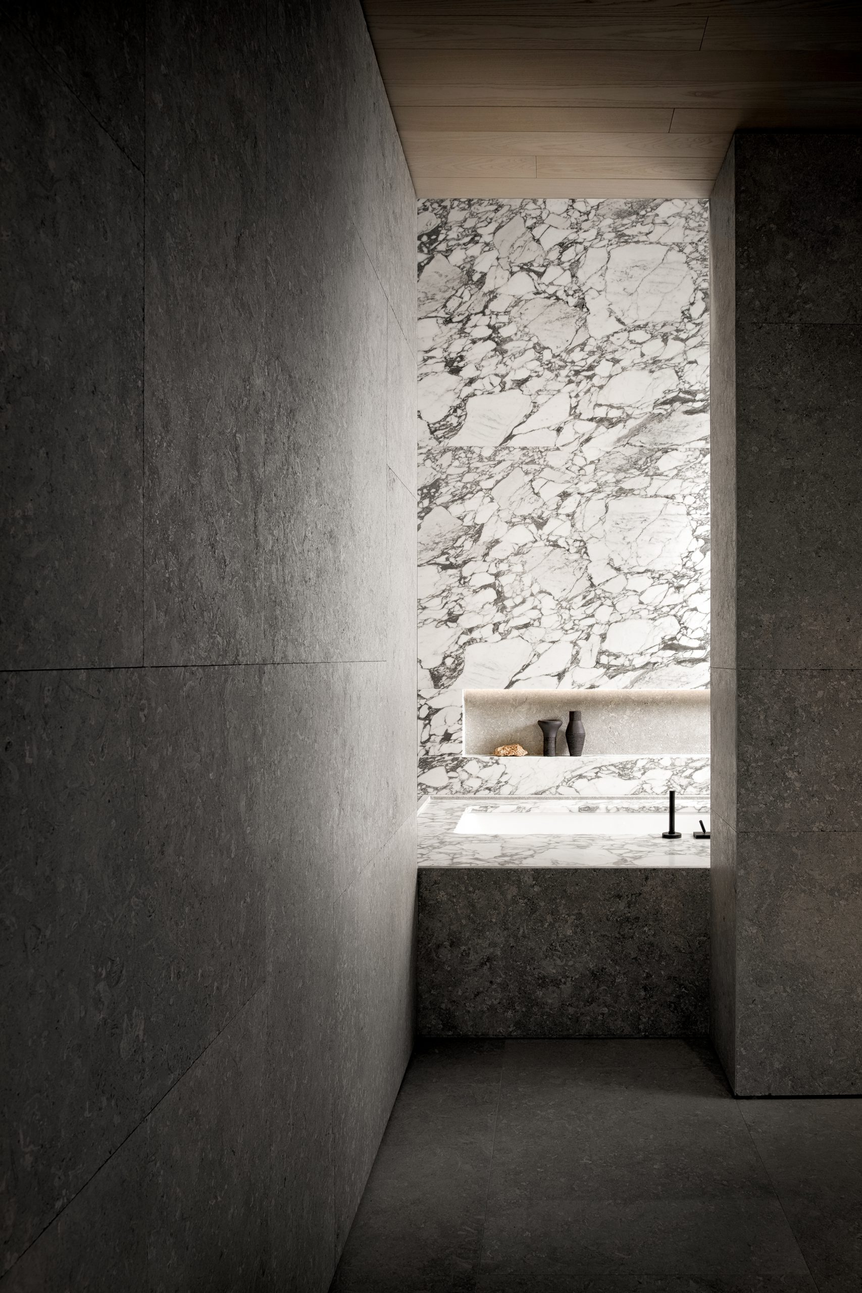 Detail of Showroom Interior Design by Debiasi Sandri for Grassi Pietre
