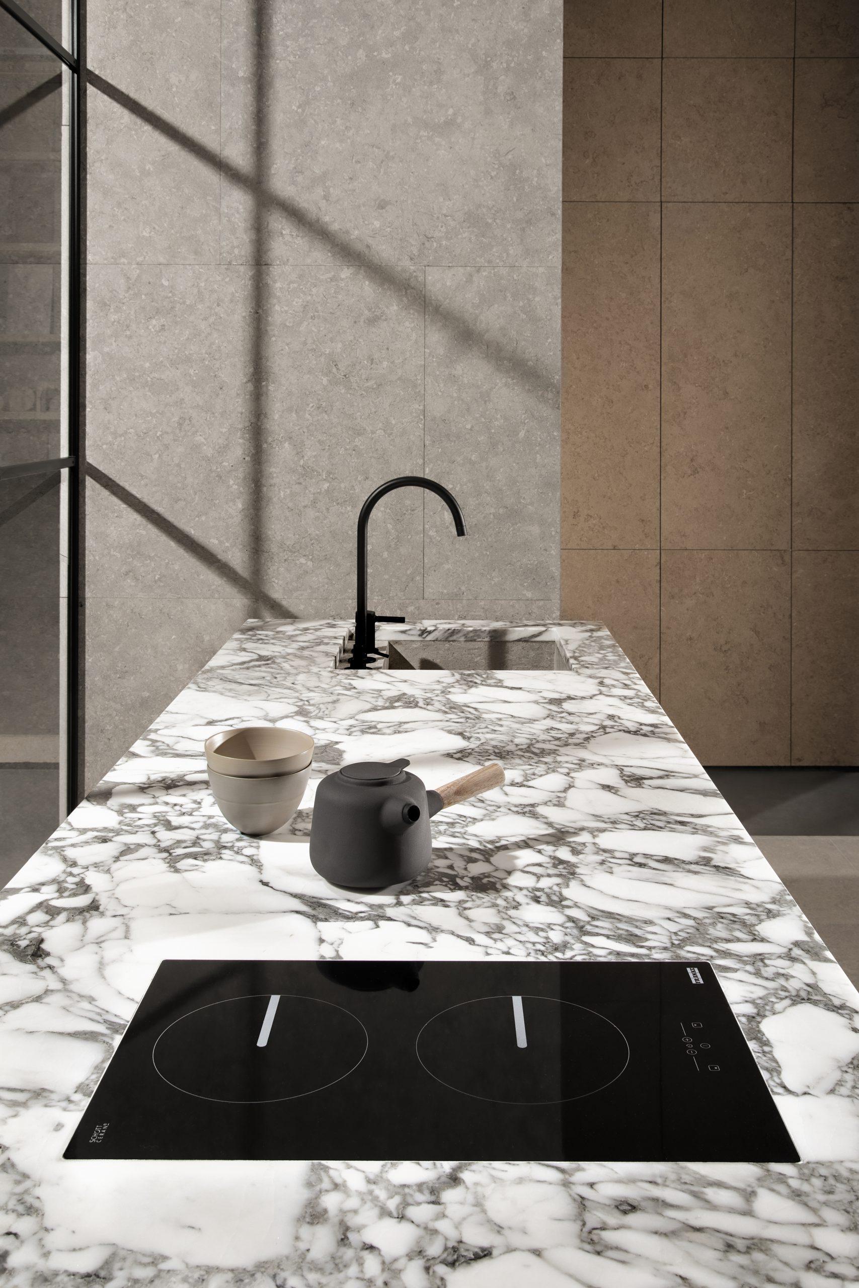 Kitchen detail in the Showroom Interior Design by Debiasi Sandri for Grassi Pietre
