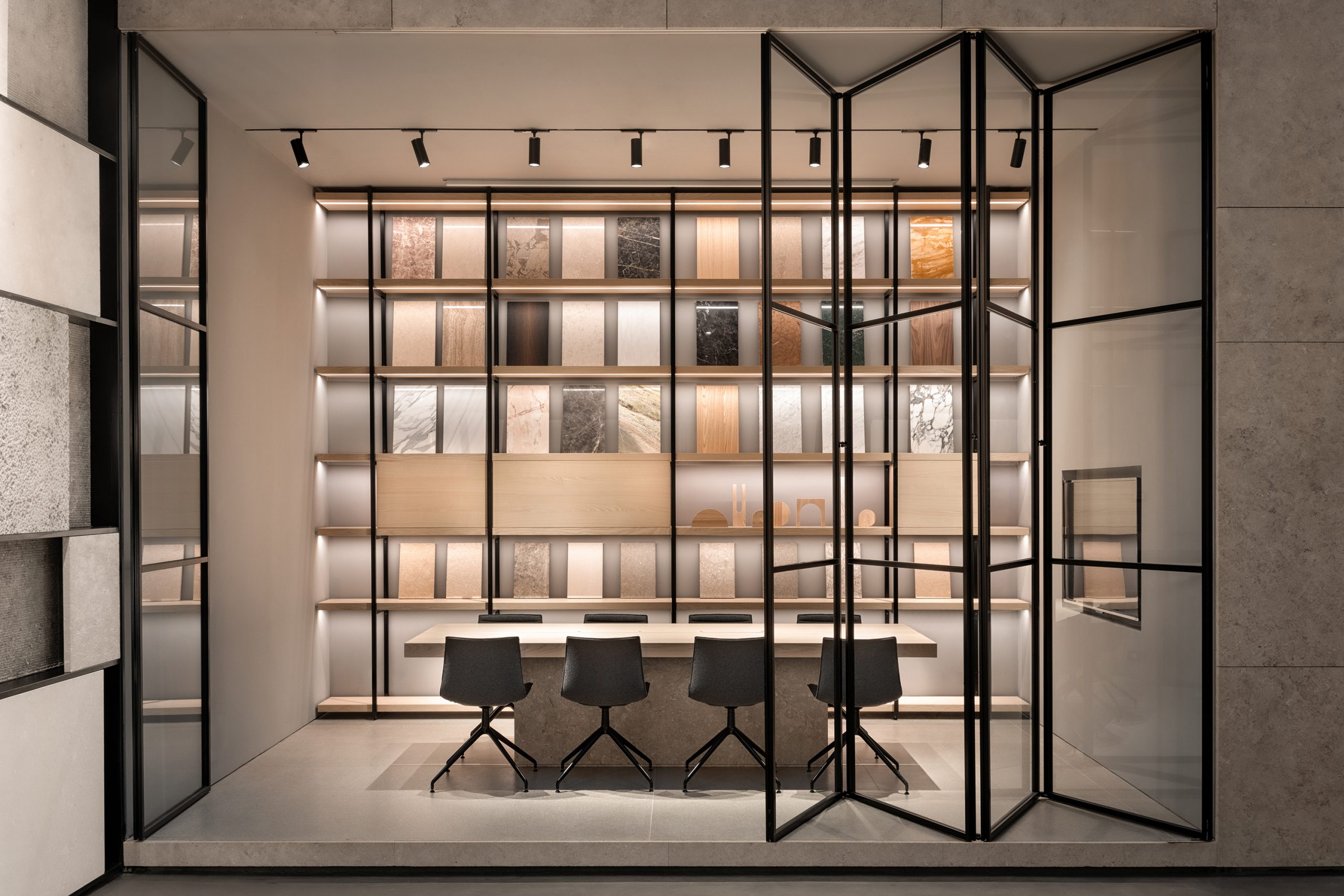 Office detail in the Showroom Interior Design by Debiasi Sandri for Grassi Pietre