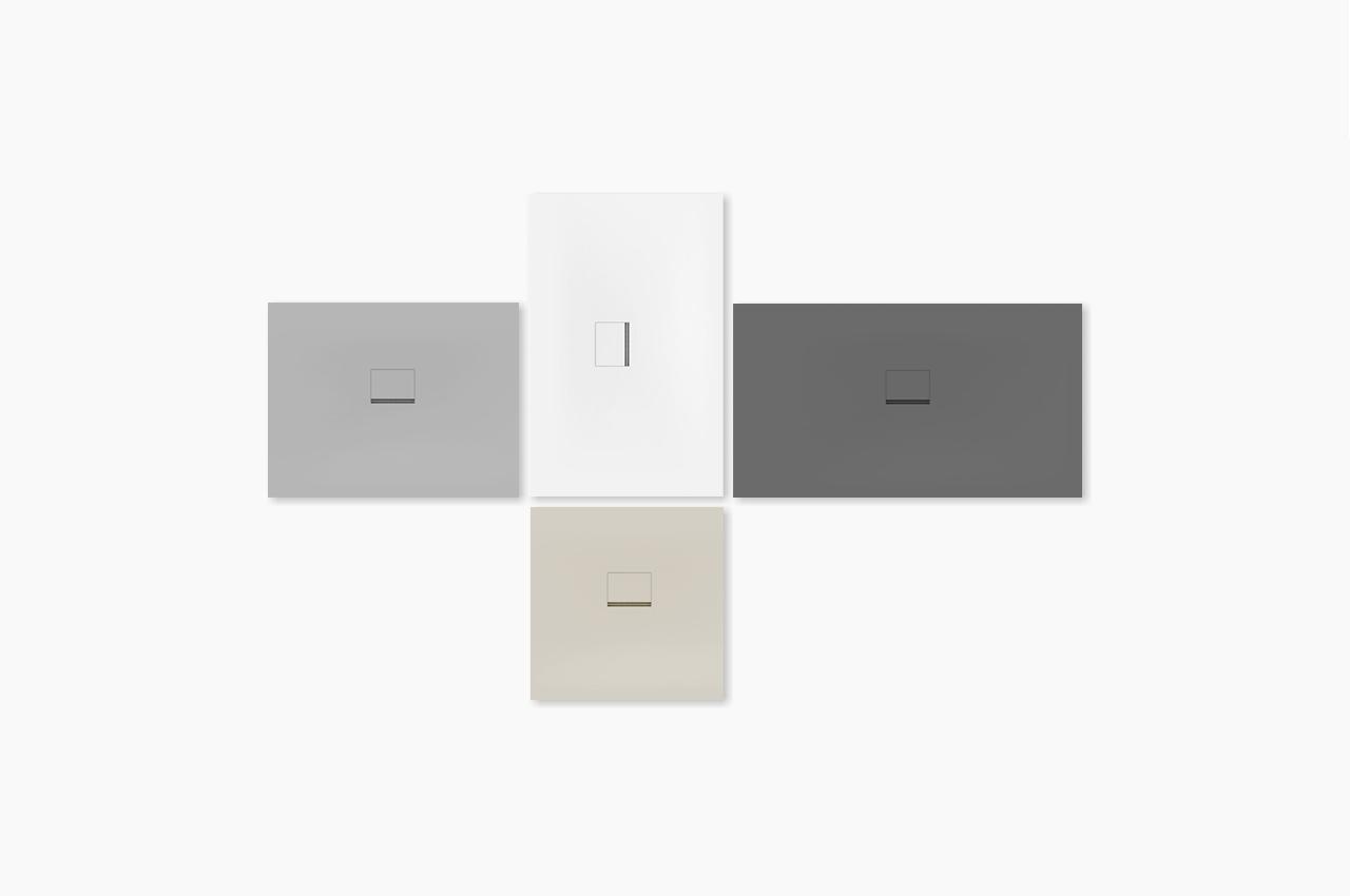 Squaro Infinity shower floor series by Debiasi Sandri for Villeroy and Boch