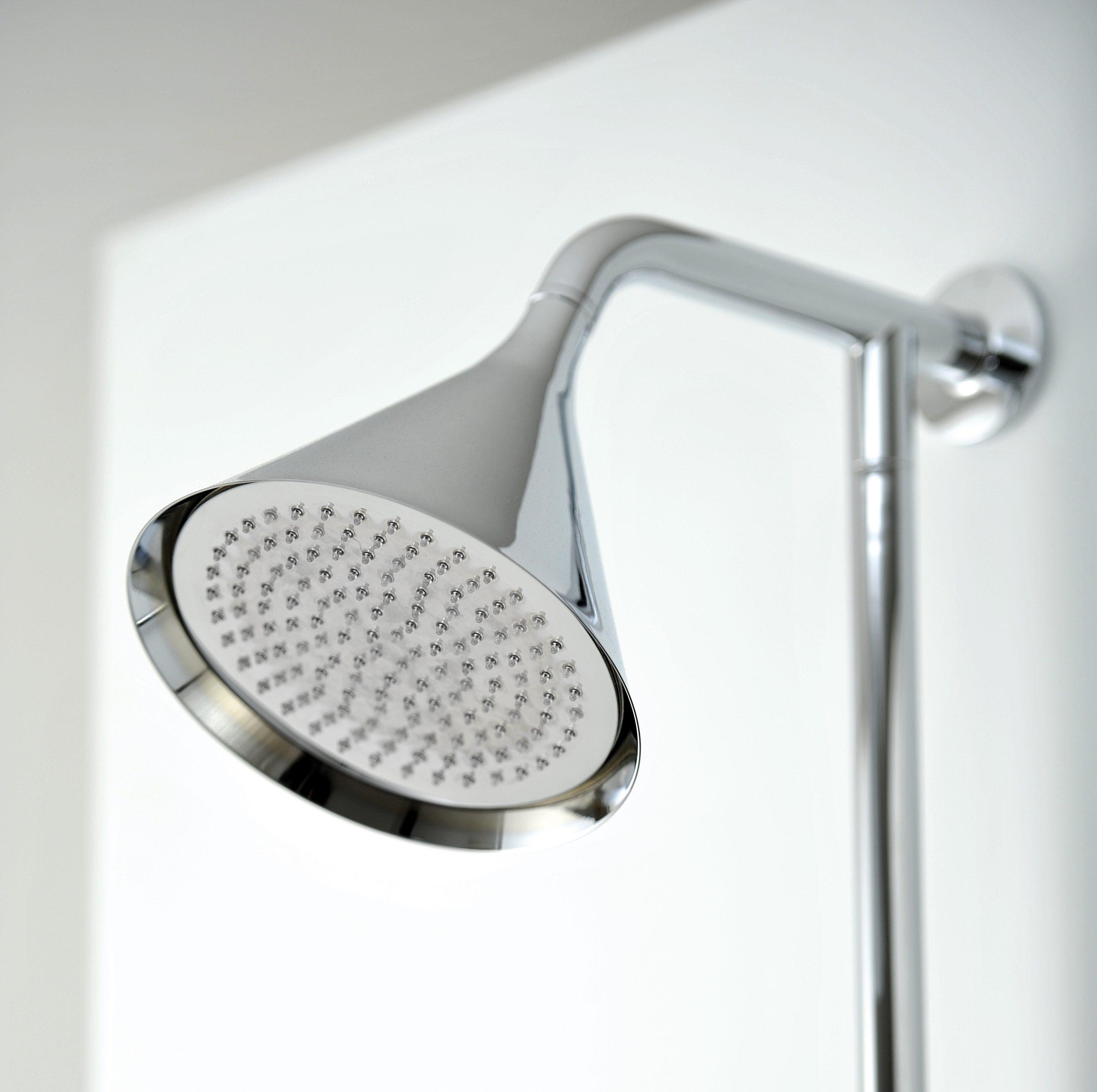 Detail of the Swing shower head by Debiasi Sandri for Bonomi