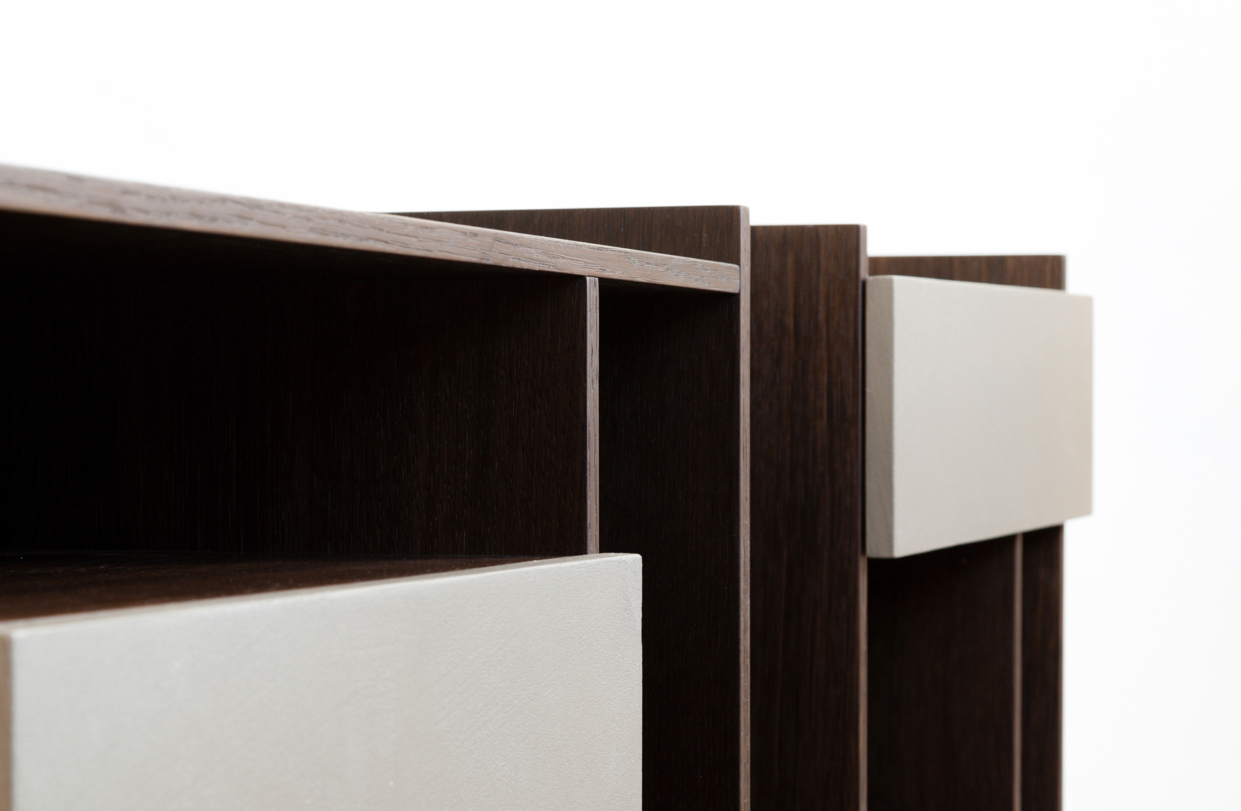 Detail of the Tip drawer units by Debiasi Sandri for Lema