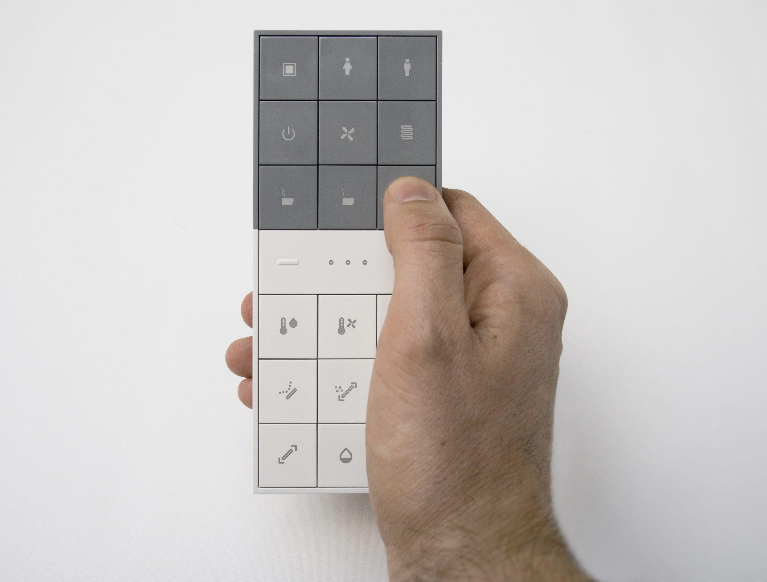 ViClean remote control series designed by Debiasi Sandri for Villeroy & Boch