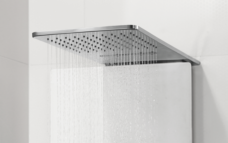 Detail of the Vivia shower panel by Debiasi Sandri for Villeroy & Boch if award winner