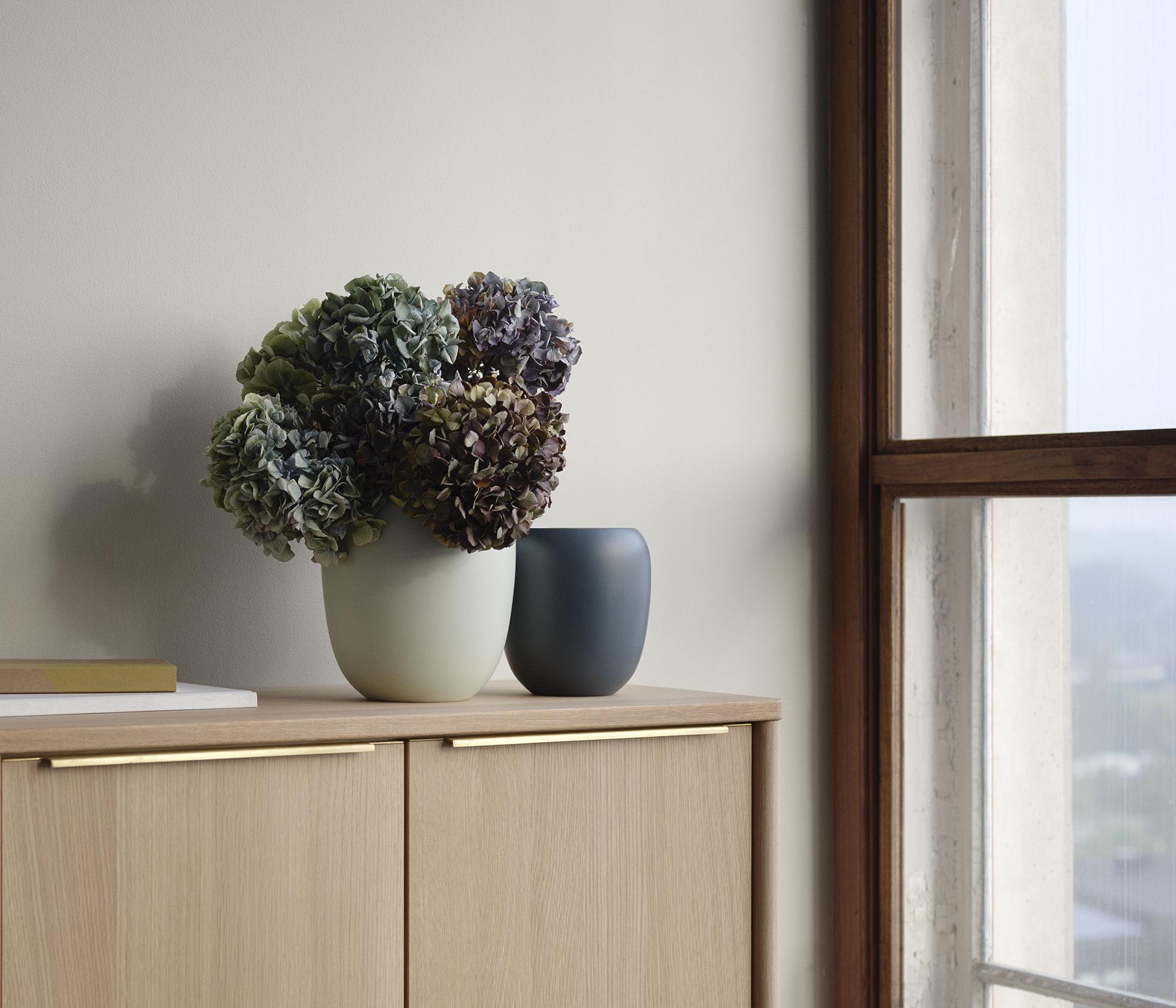 Blue and Mint Ora Vases designed by Debiasi Sandri for Stelton