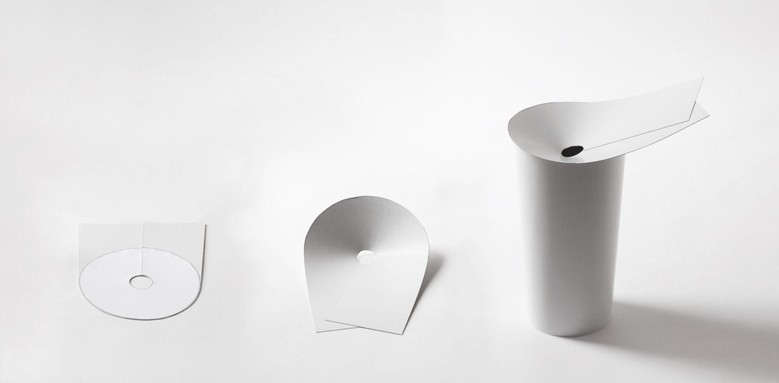 Paper model of the Ala washbasin by Debiasi Sandri for Toscoquattro